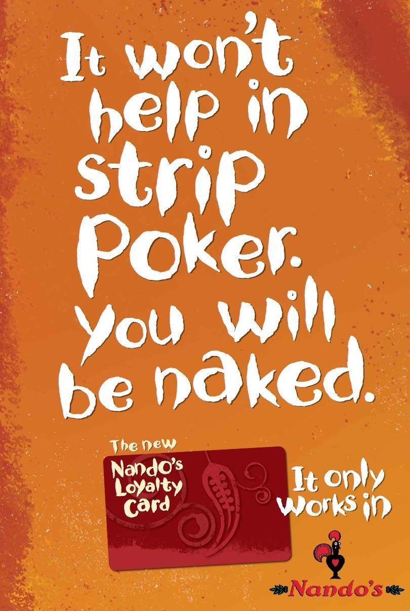 Nando's Print Ad -  Poker