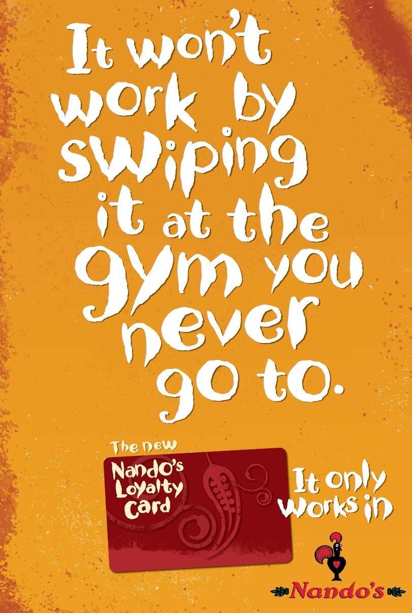 Nando's Print Ad -  Gym