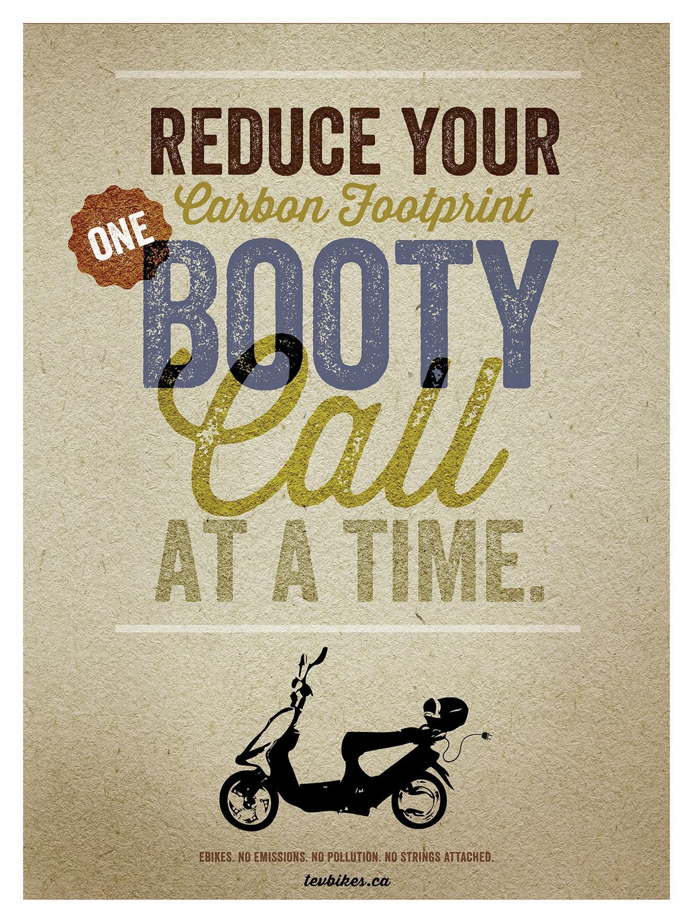TEV Bikes Print Ad -  Booty Call