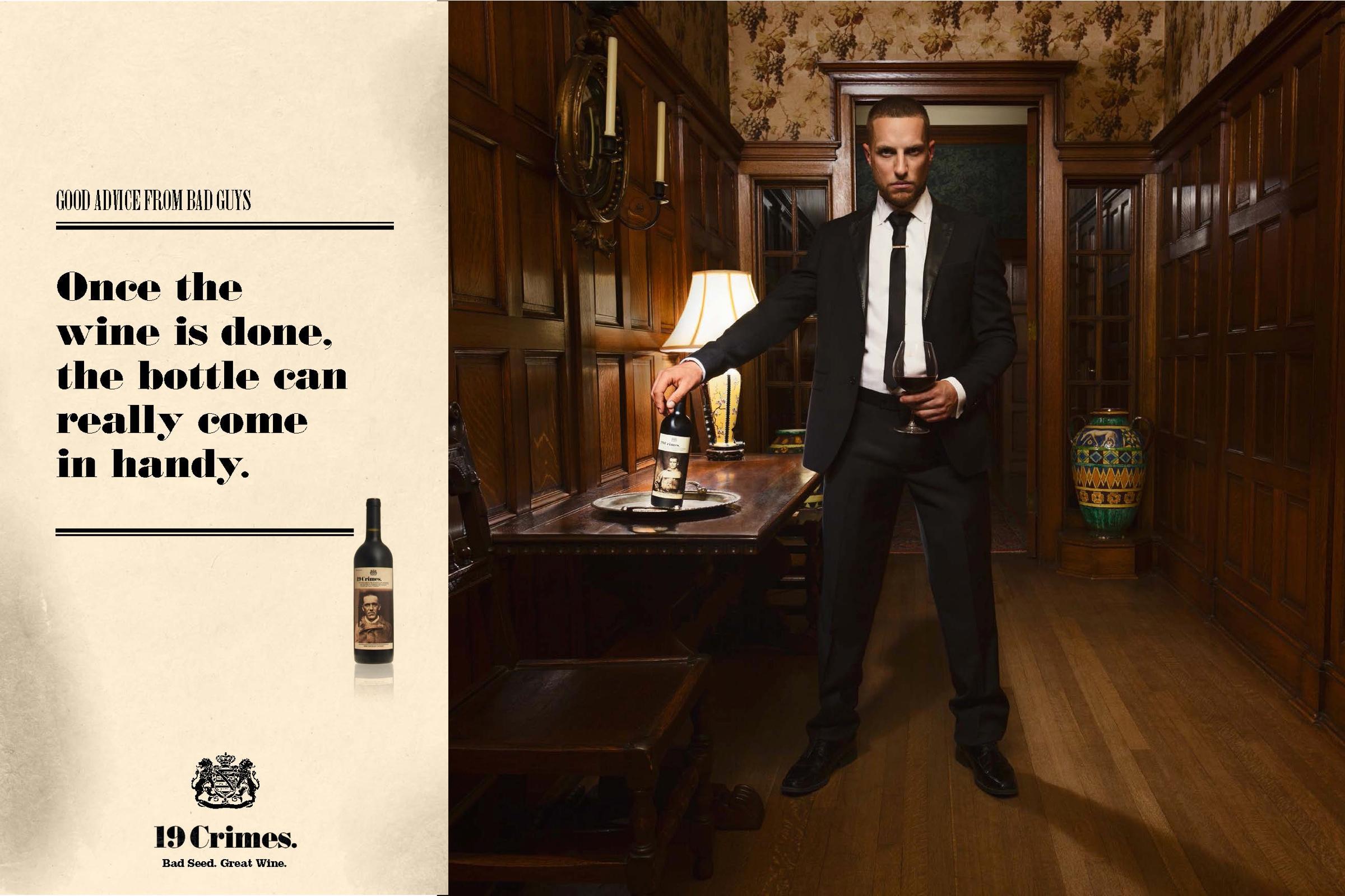 Treasury Wine Estates Print Ad -  Good advice from bad guys, 1