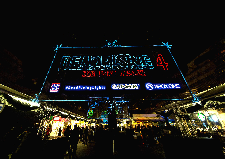 Dead Rising Experiential Ad - Christmas lights walkthrough