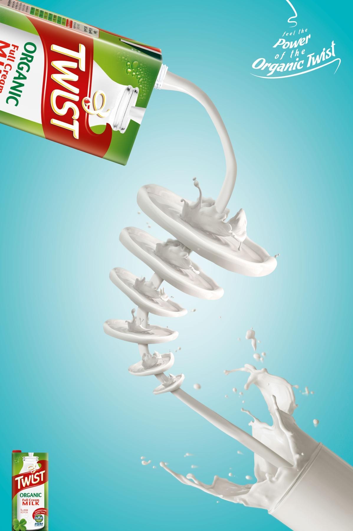 Twist Milk Print Ad -  Organic, 1