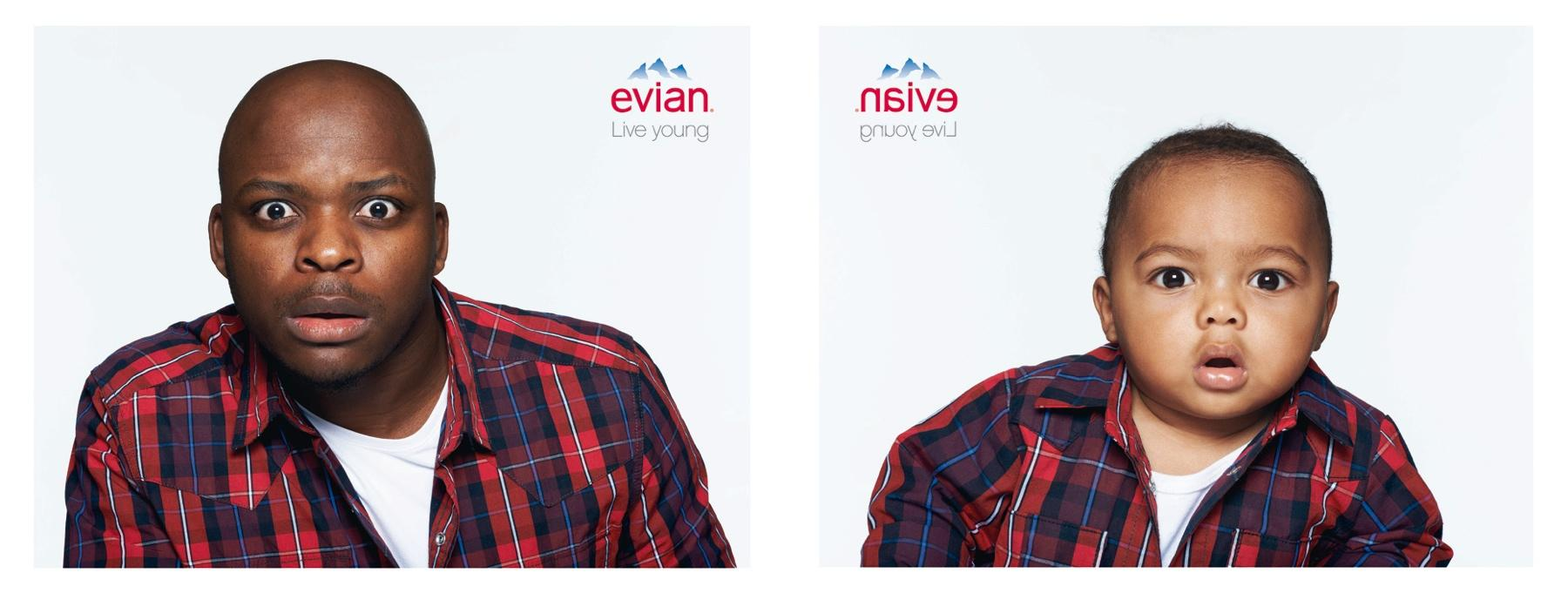 Evian Print Ad -  Fred & Enzo
