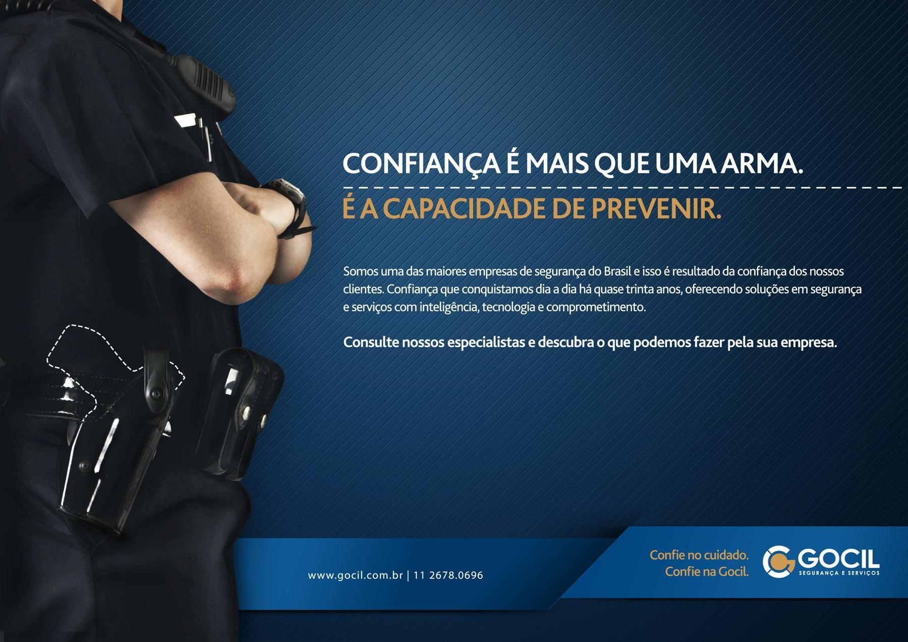 Gocil Security Print Ad -  Confidence Gun