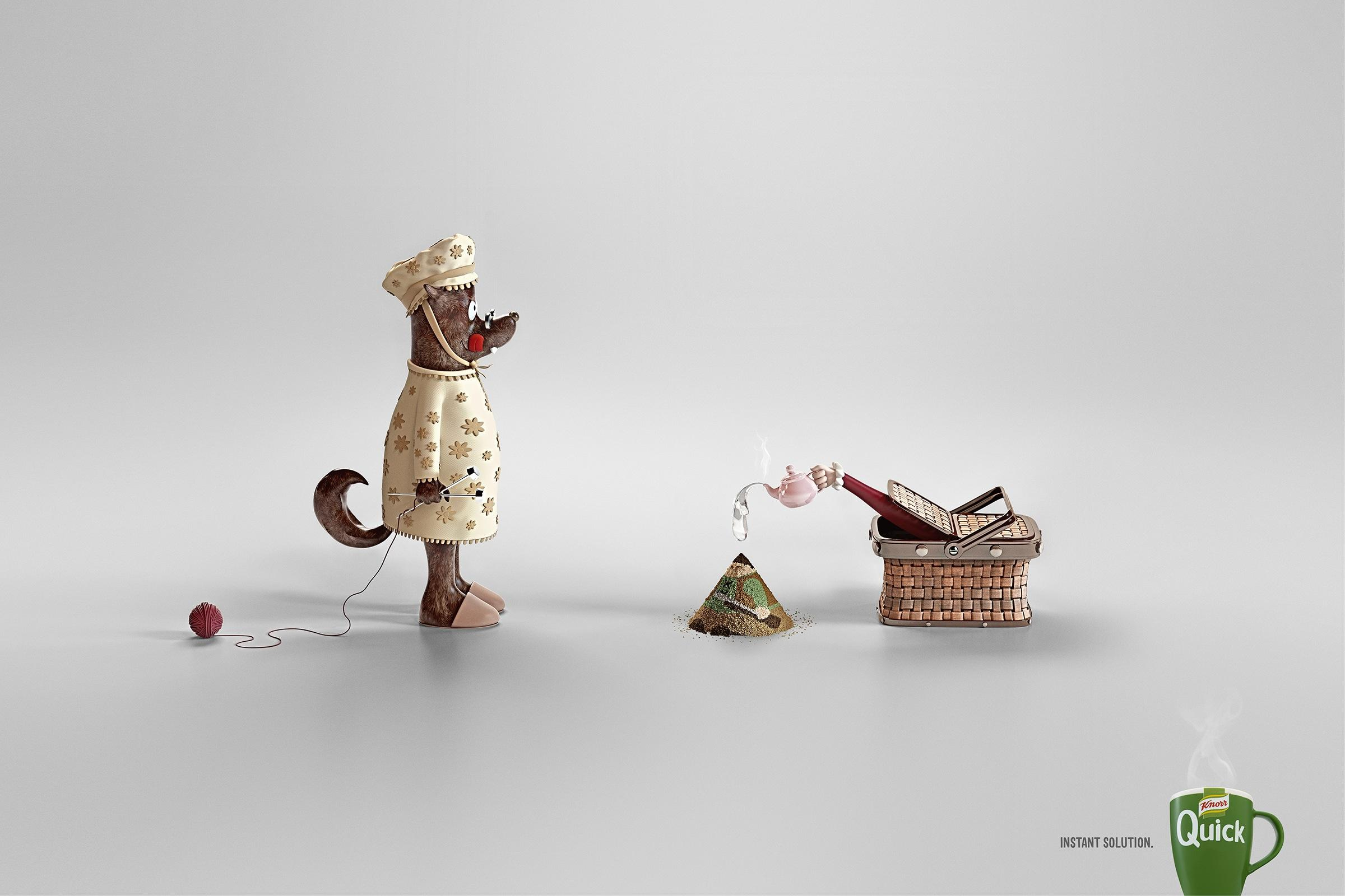 Knorr Print Ad -  Little Red Riding Hood