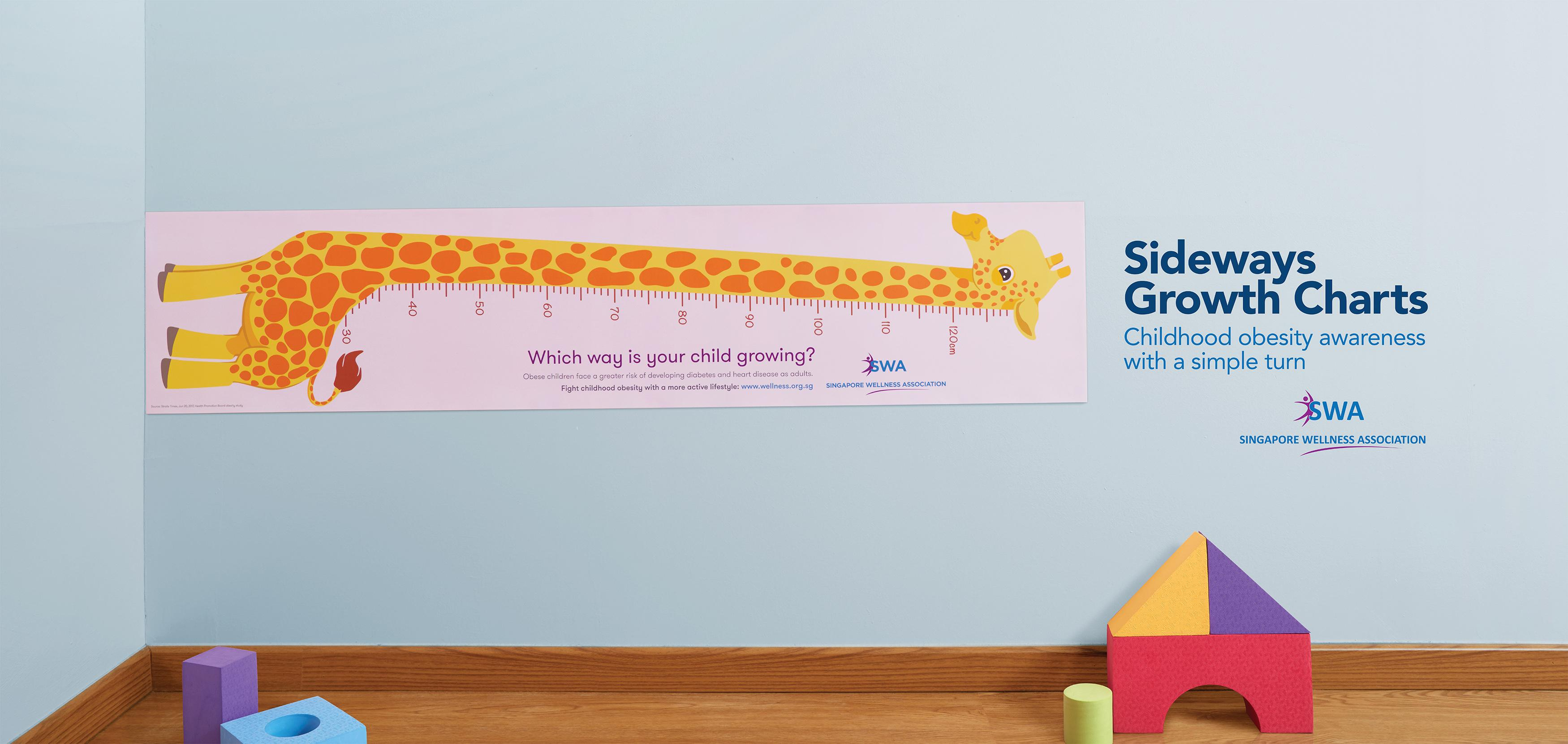 Singapore Wellness Association Ambient Ad - Sideways Growth Charts