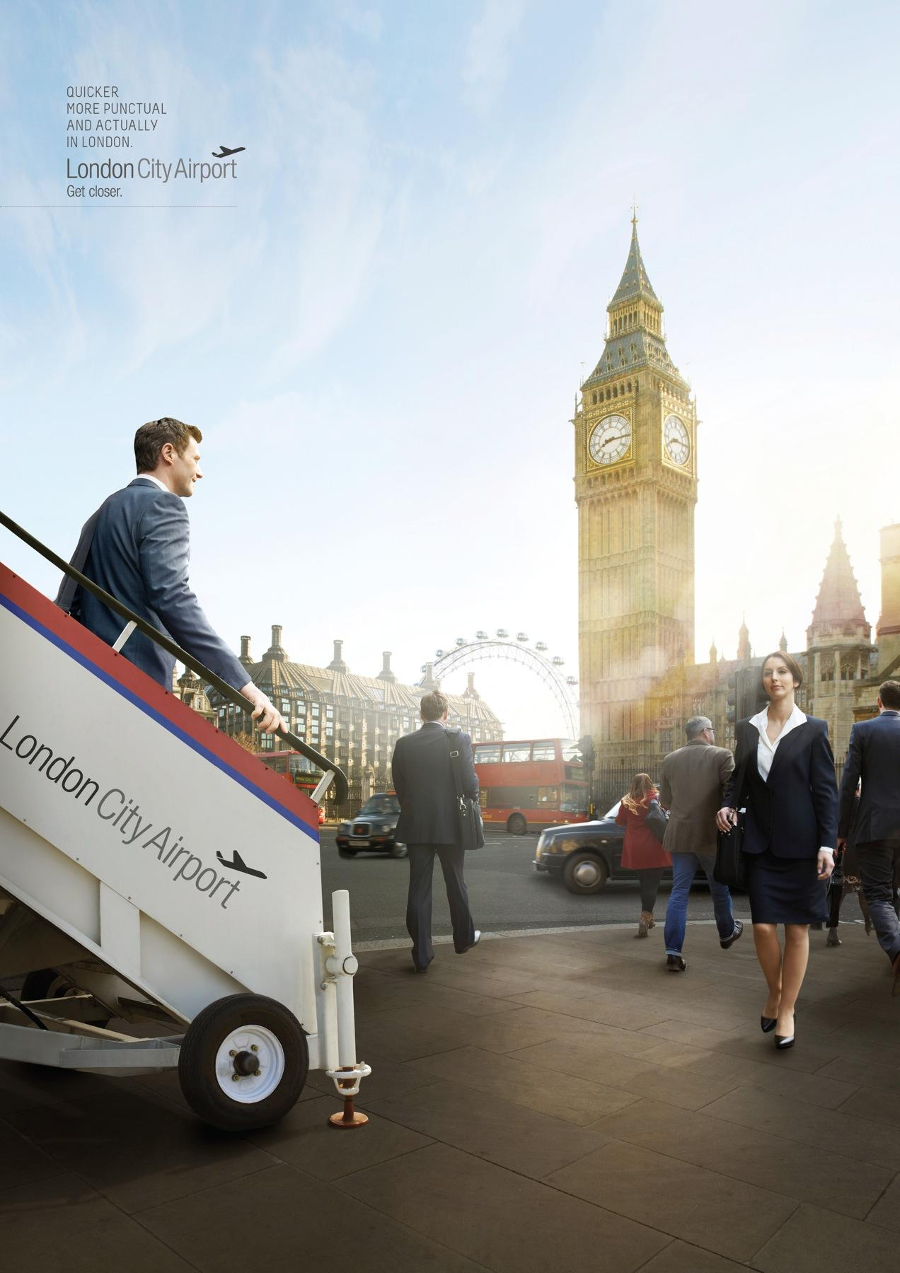 London City Airport Print Ad -  Westminster