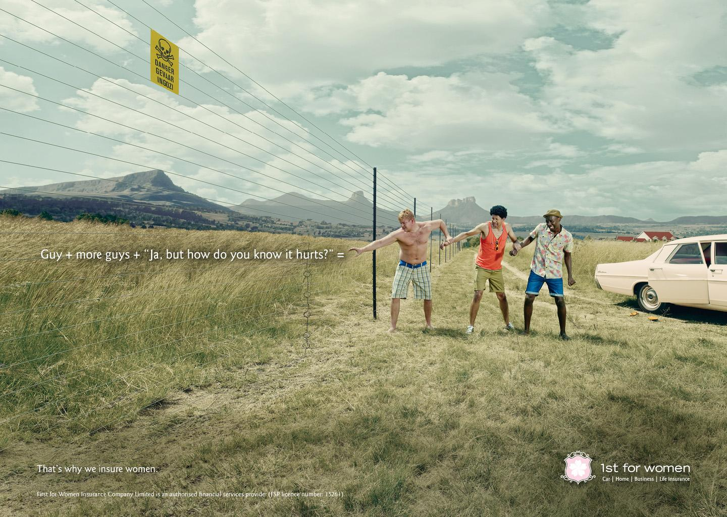 1st for Women Insurance Brokers Print Ad -  Fence