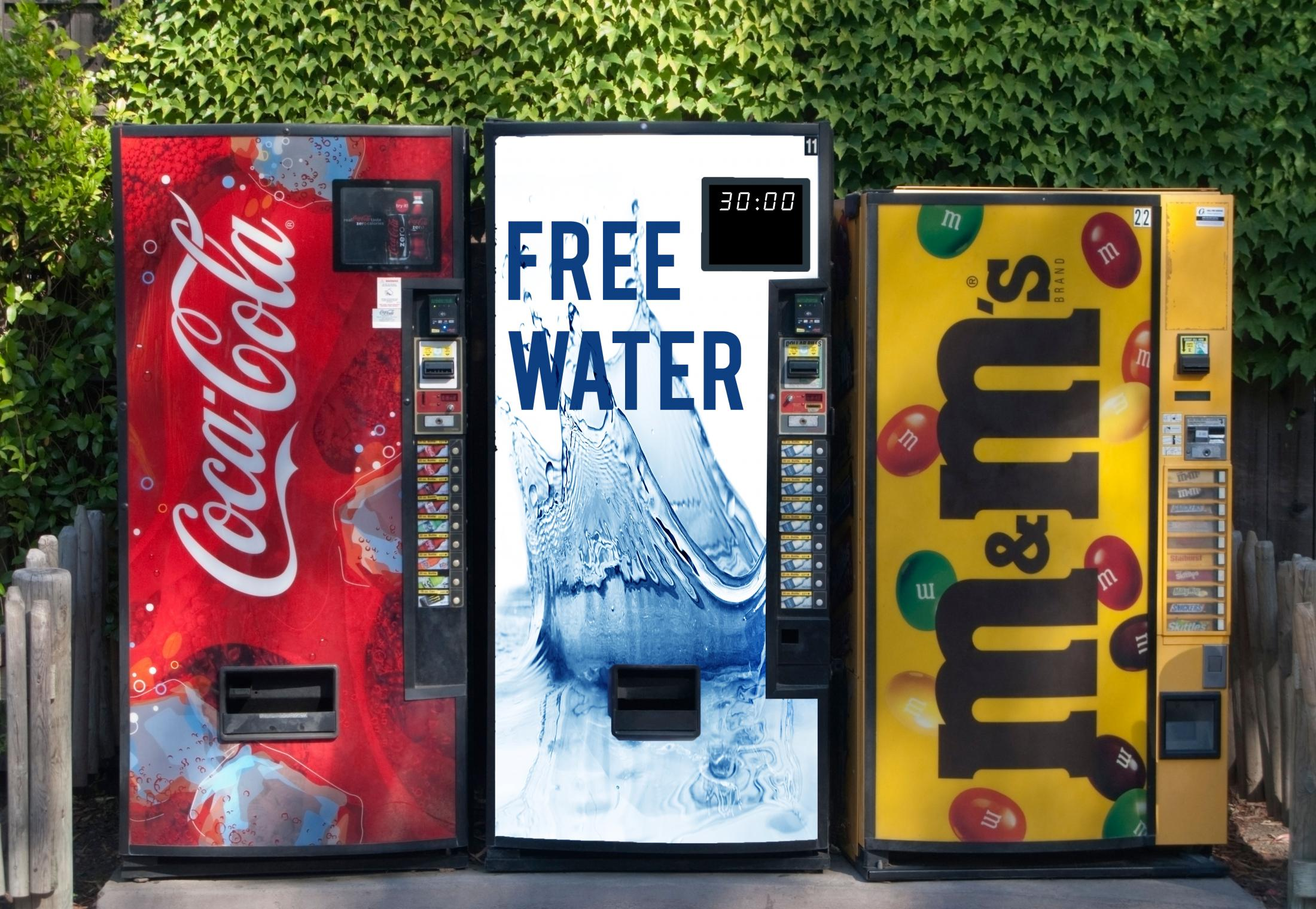 WaterAid Outdoor Ad - 30 Minutes a Day - Vending Machines