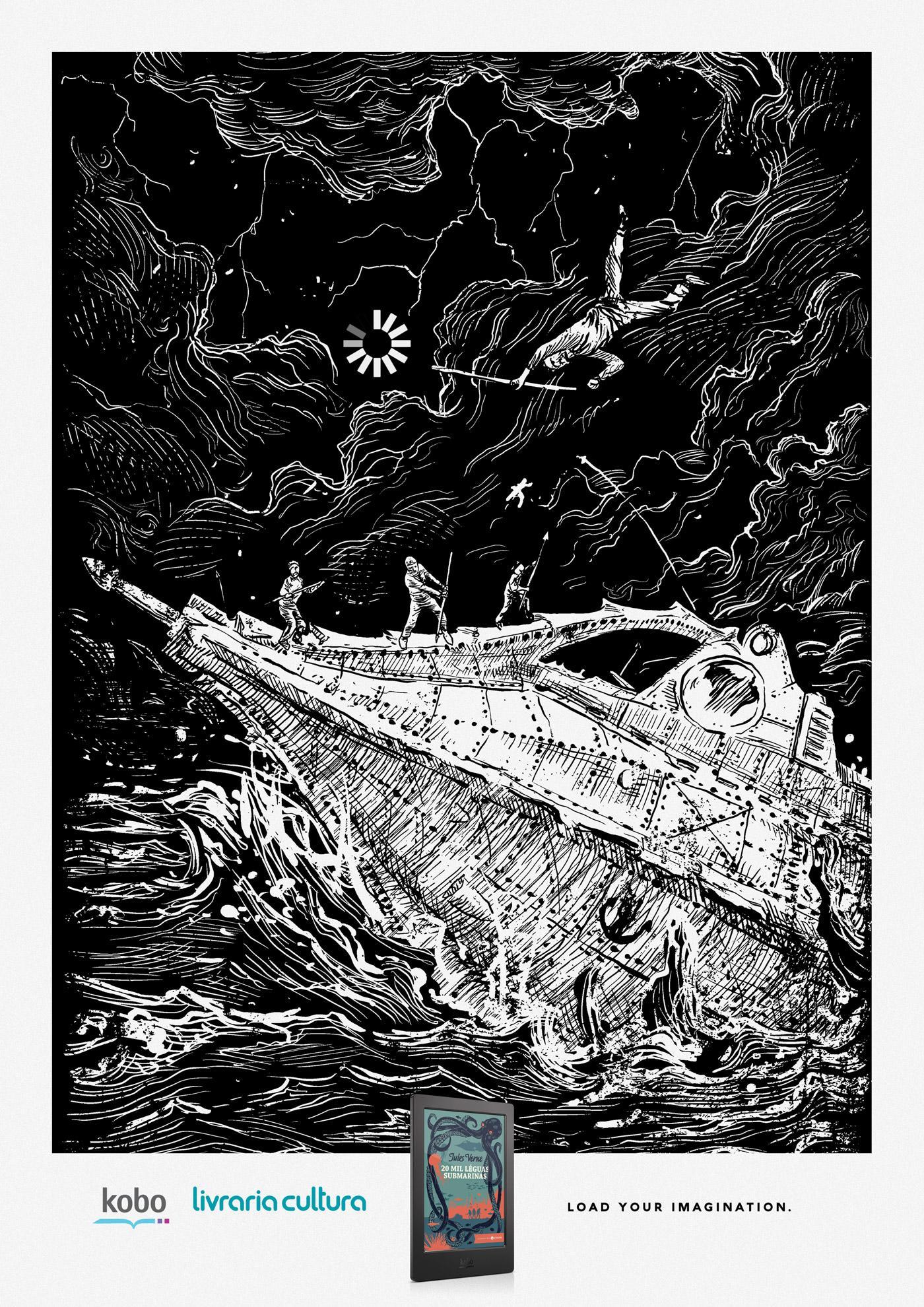 Livraria Cultura Print Ad - Load your imagination, 2