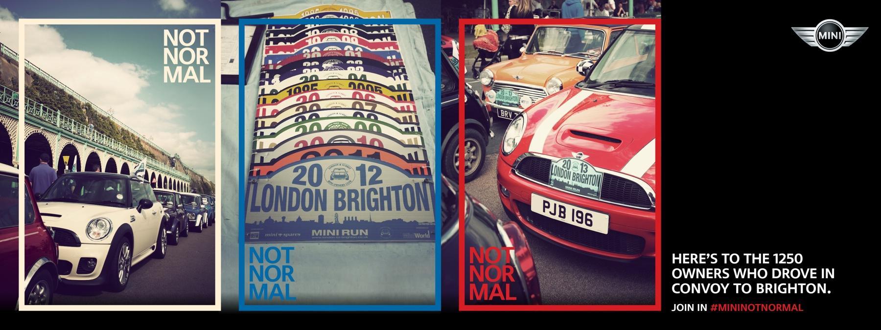 Mini Print Ad -  London to Brighton
