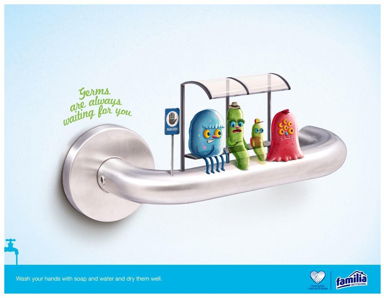 Familia Print Ad -  Germs, 2