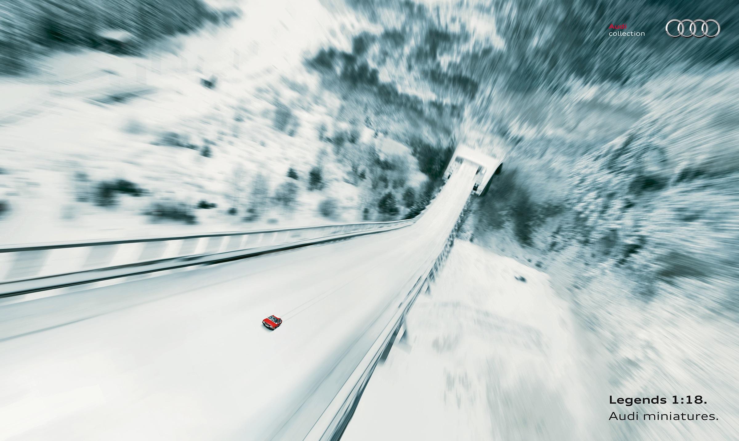 Audi Print Ad -  Ski jump
