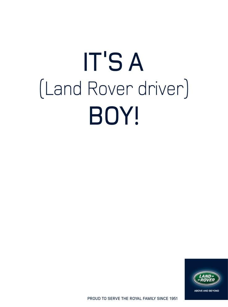 Land Rover Print Ad -  It's a Boy!