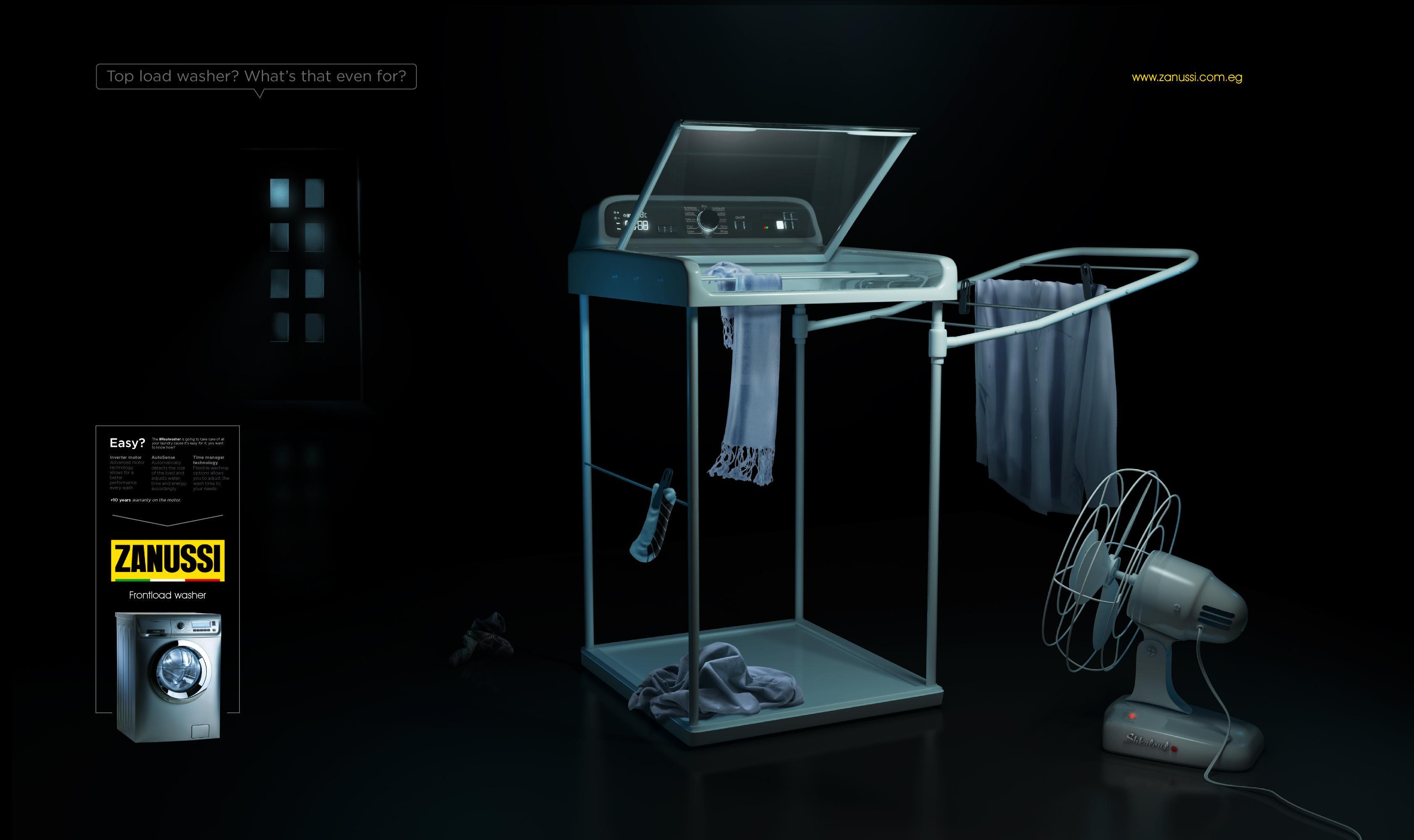 Zanussi Print Ad - Washer Won't Wash!, 2