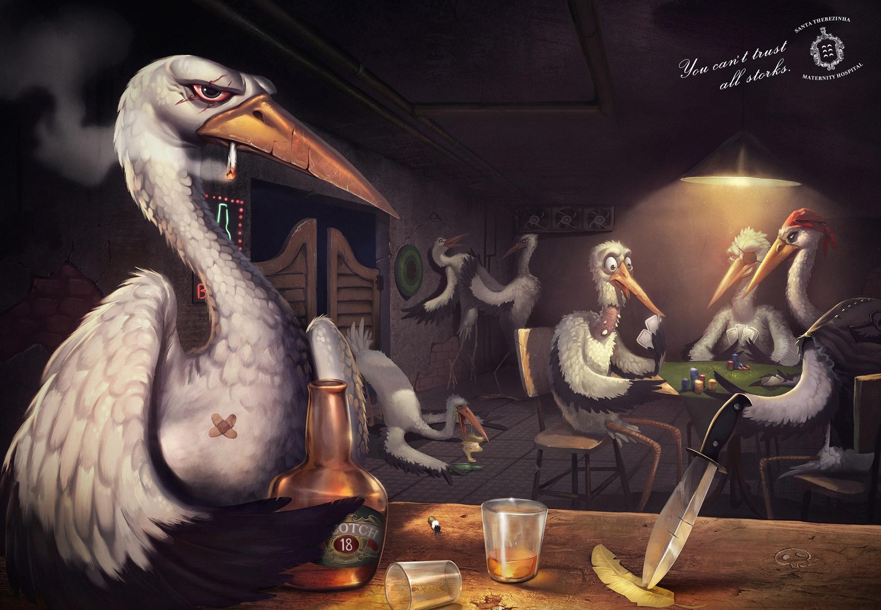 Santa Therezinha Maternity Hospital Print Ad -  Bad storks, Bar