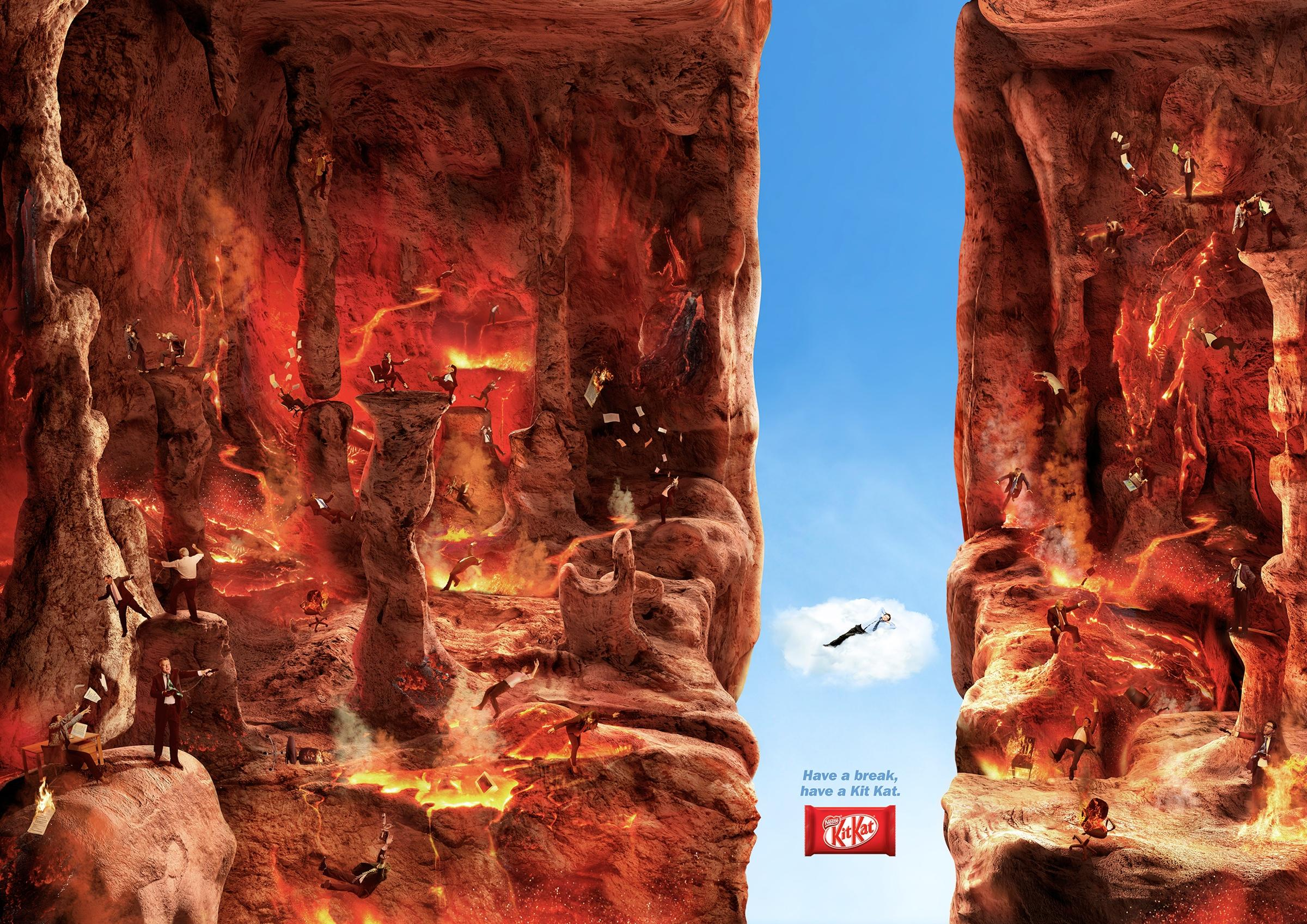 Kit Kat Print Ad -  Break, Hell