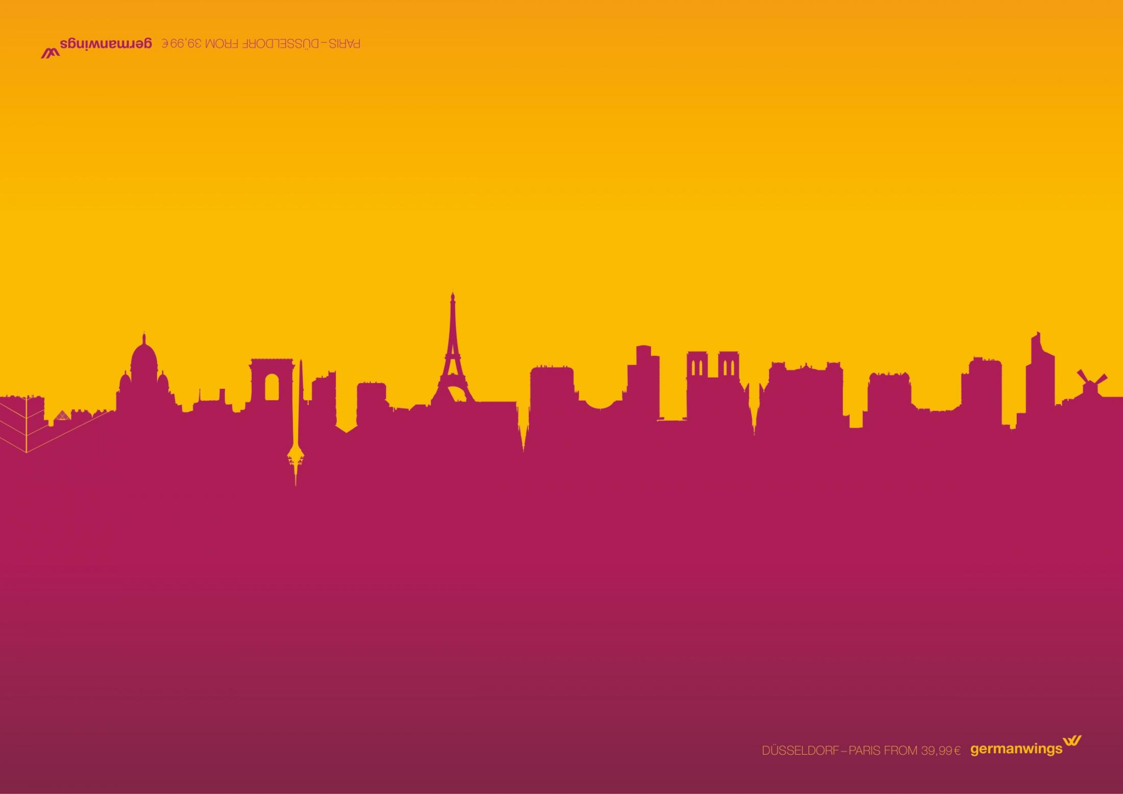Germanwings Print Ad -  Parisseldorf