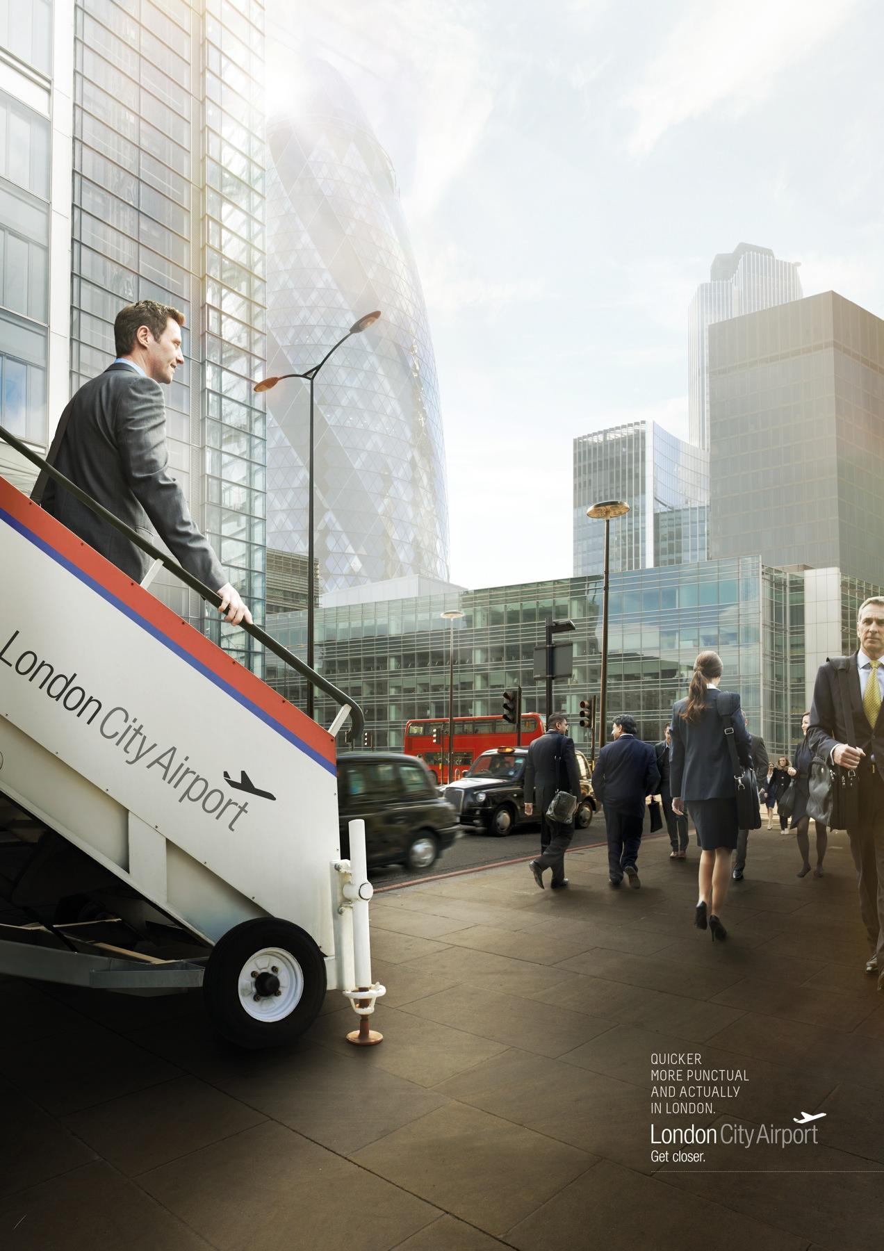 London City Airport Print Ad -  Bank