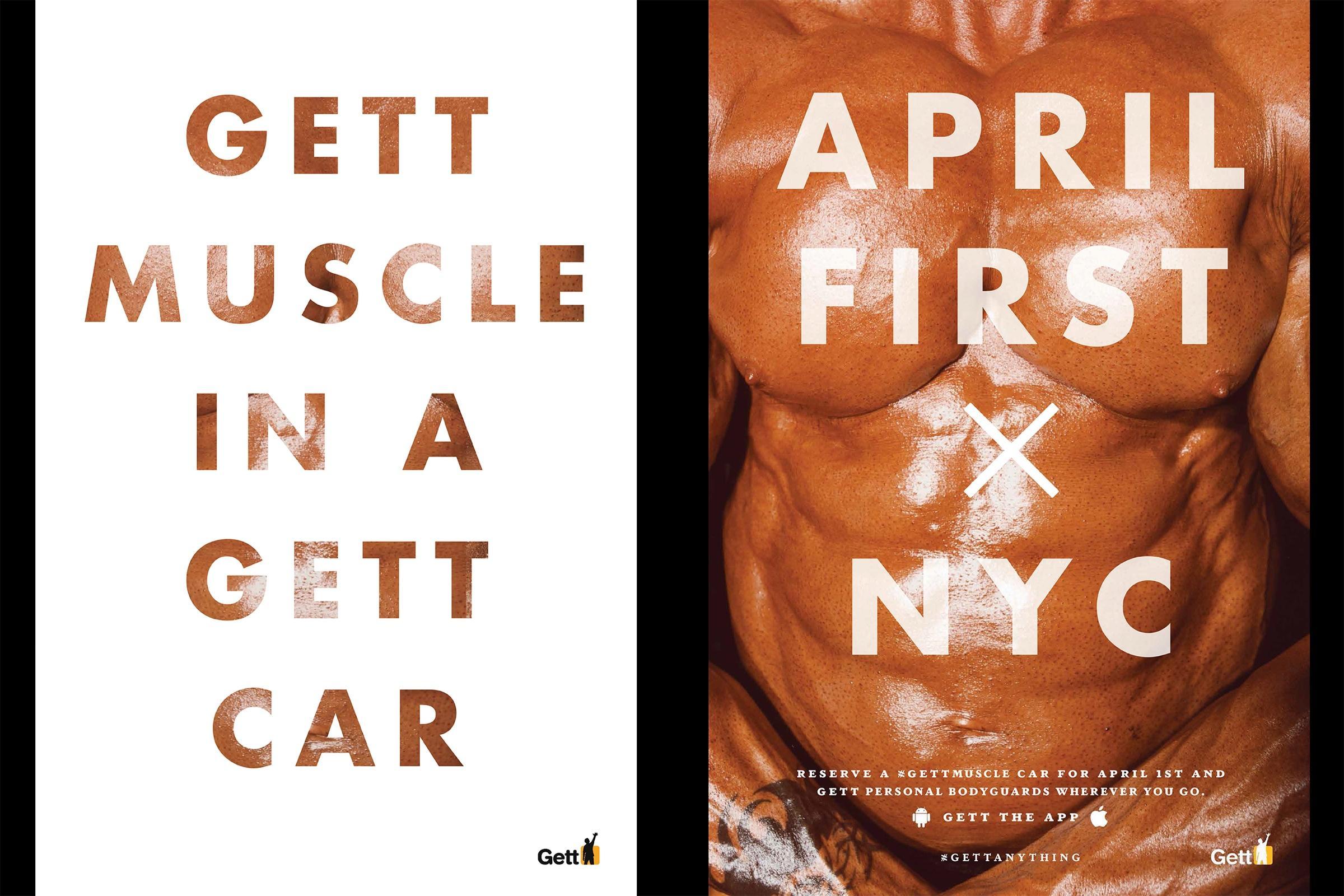 Gett Outdoor Ad -  Muscle