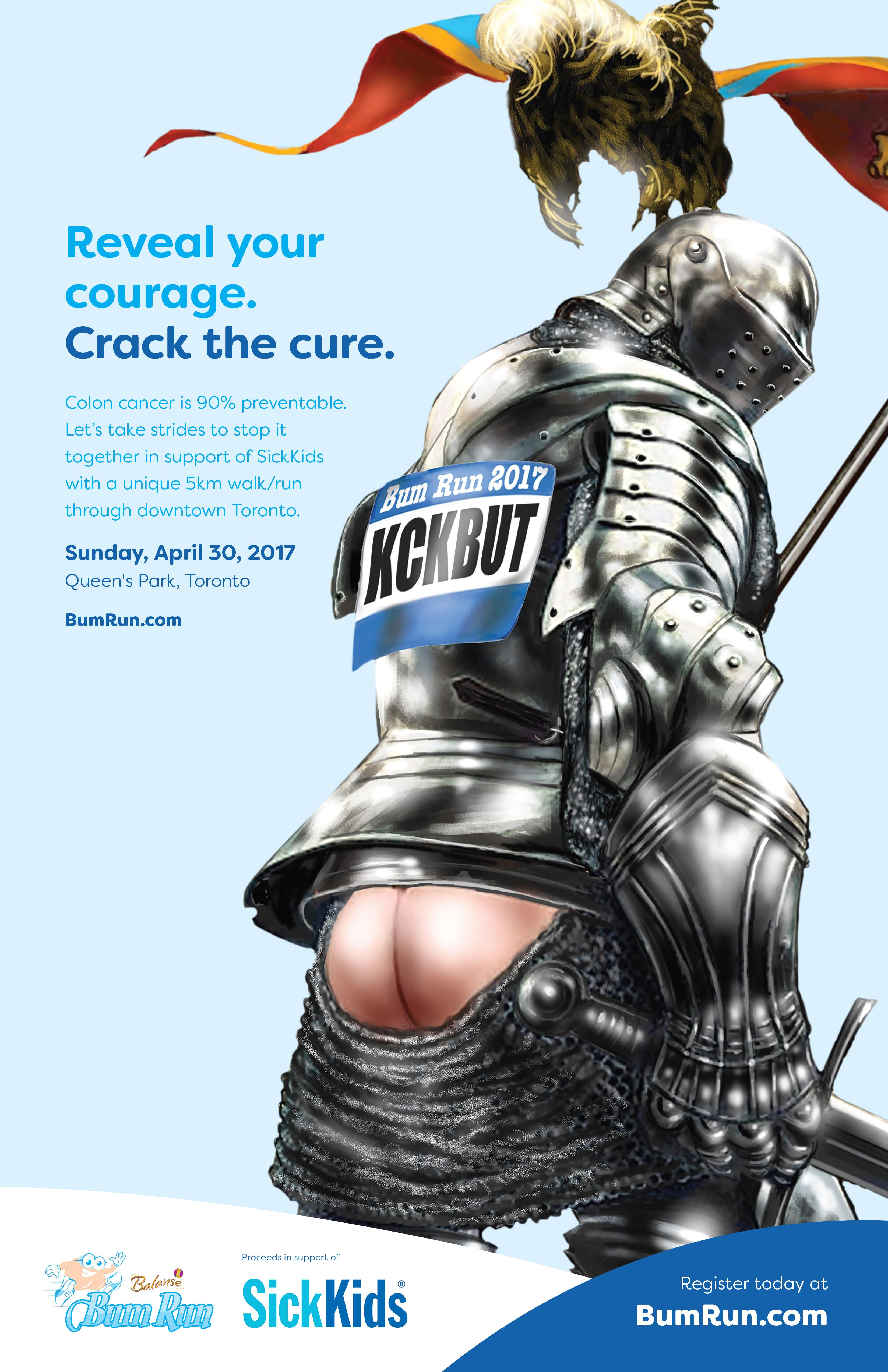 Bum Run Outdoor Ad - Crack the Cure - Knight