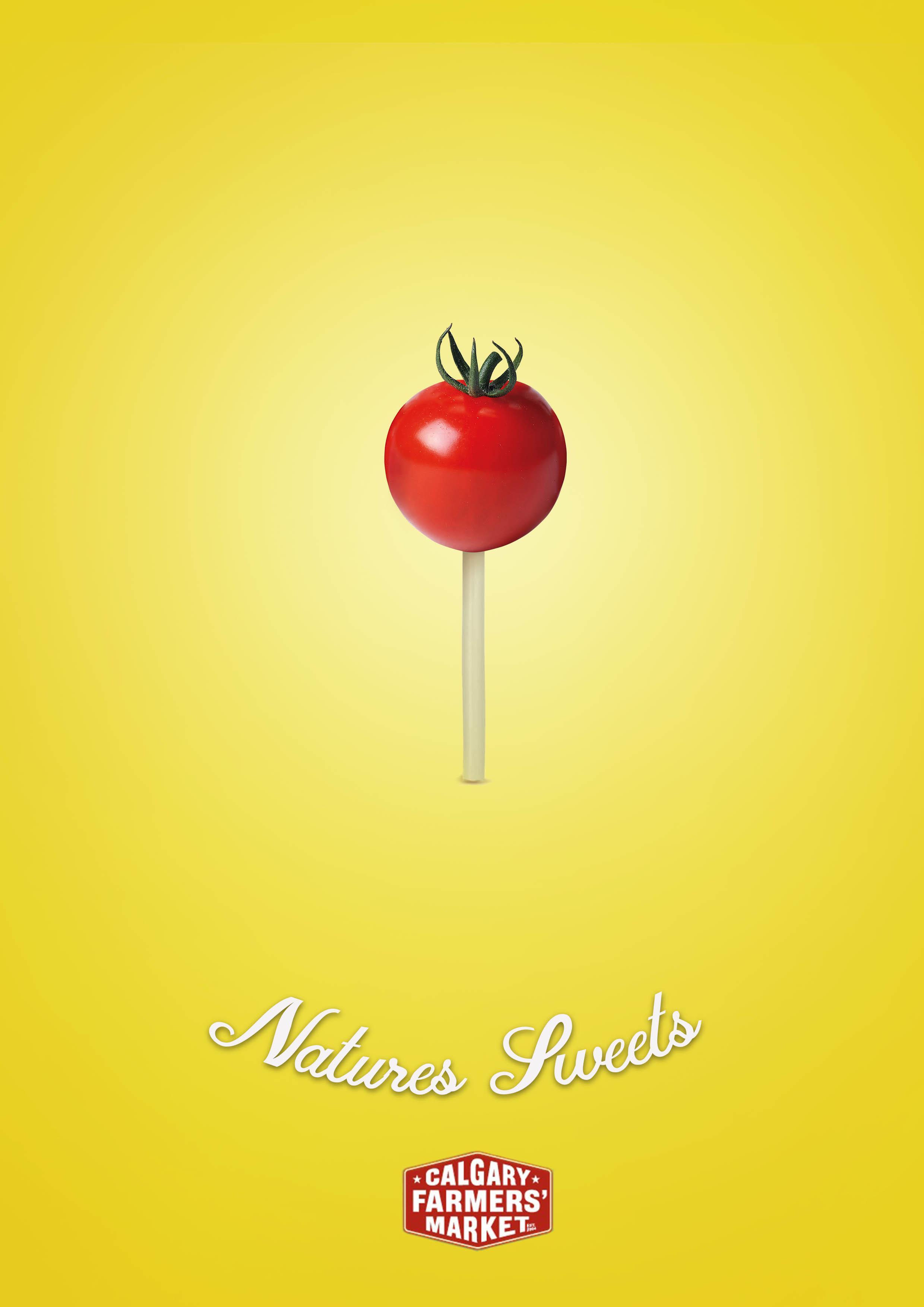 Calgary Farmers' Market Print Ad - Tomato