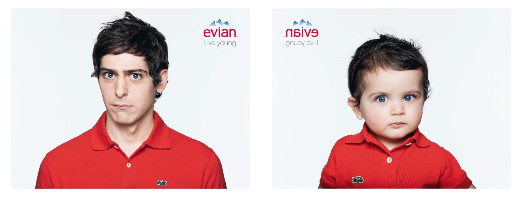 Evian Print Ad -  Andreas & Guillaume