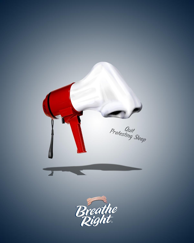 Breathe Right Print Ad -  Megaphone