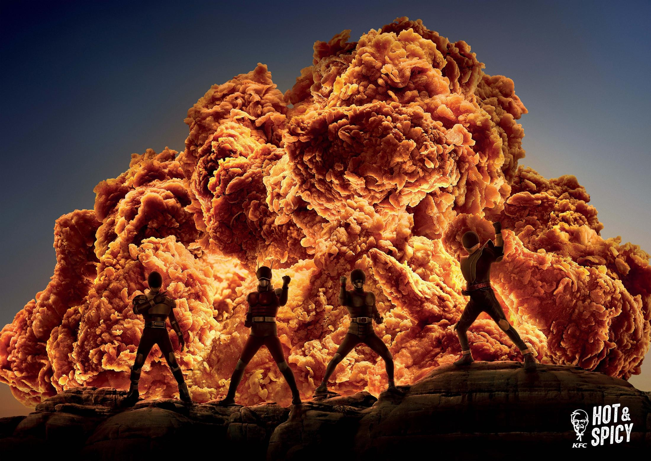 KFC Print Ad - Hot & Spicy - Heroes