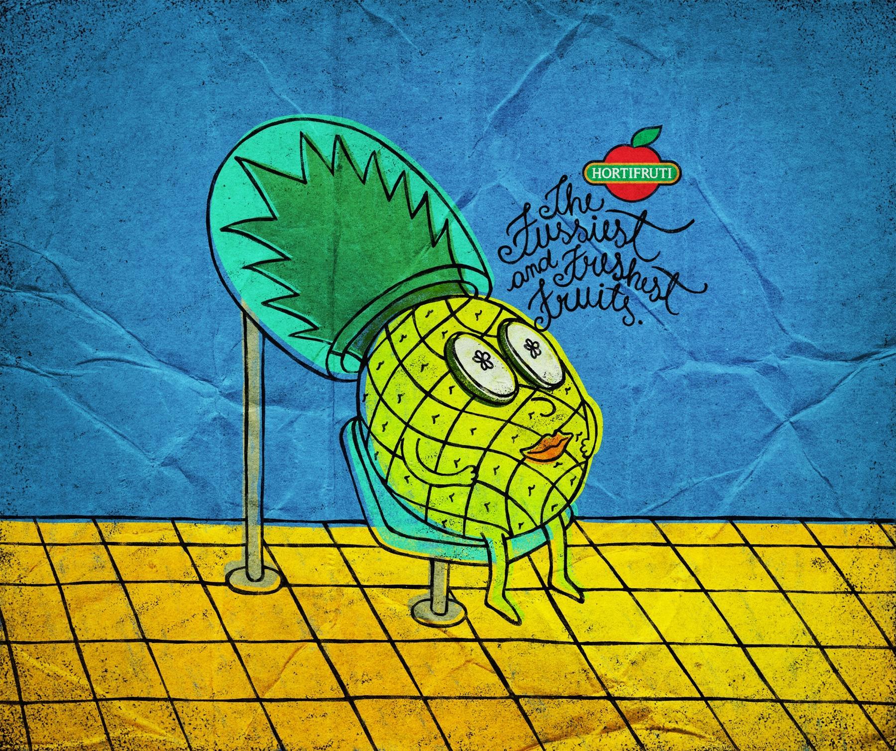 Hortifruti Print Ad -  Pineapple