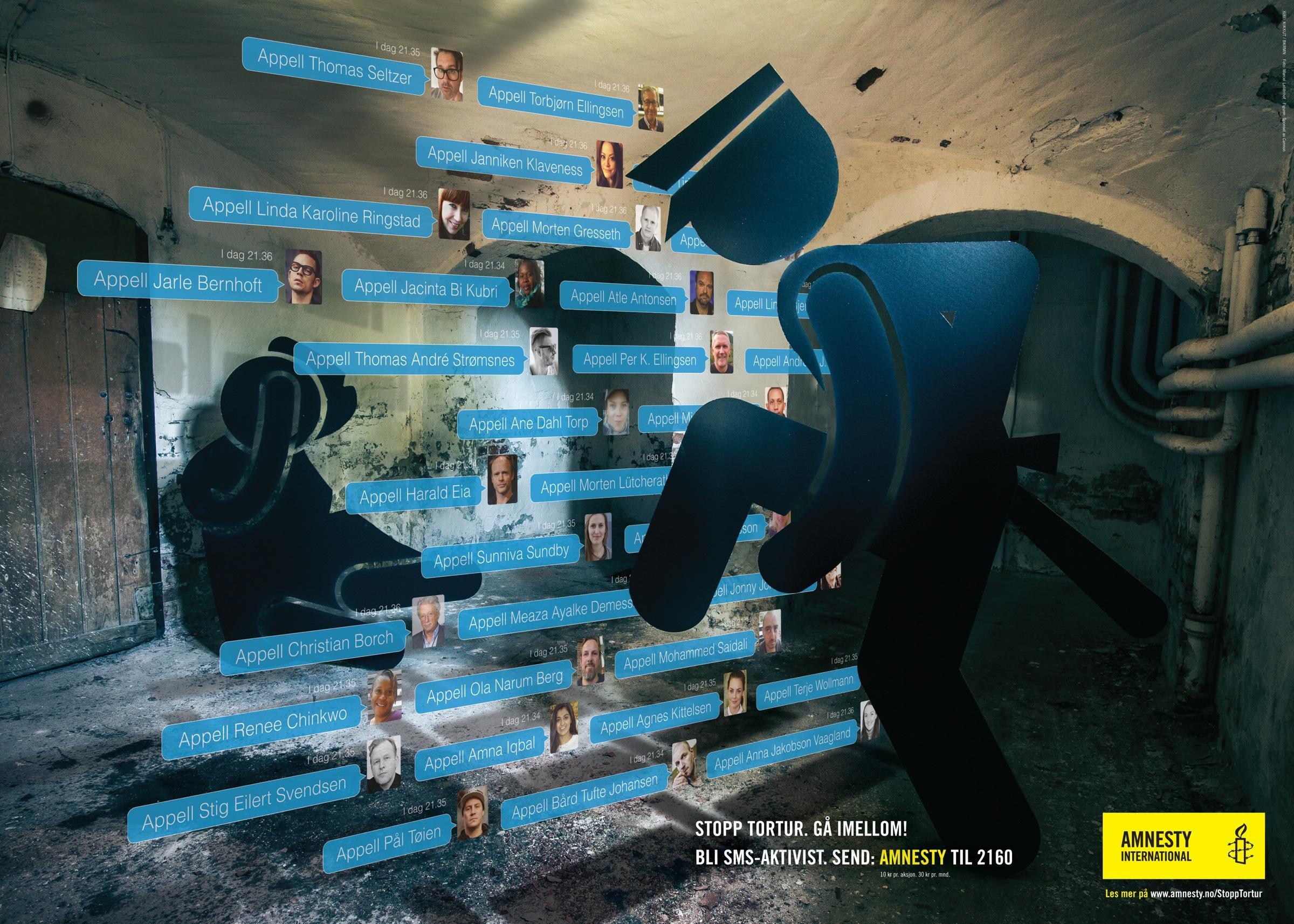 Amnesty International Print Ad -  Stop torture, 2