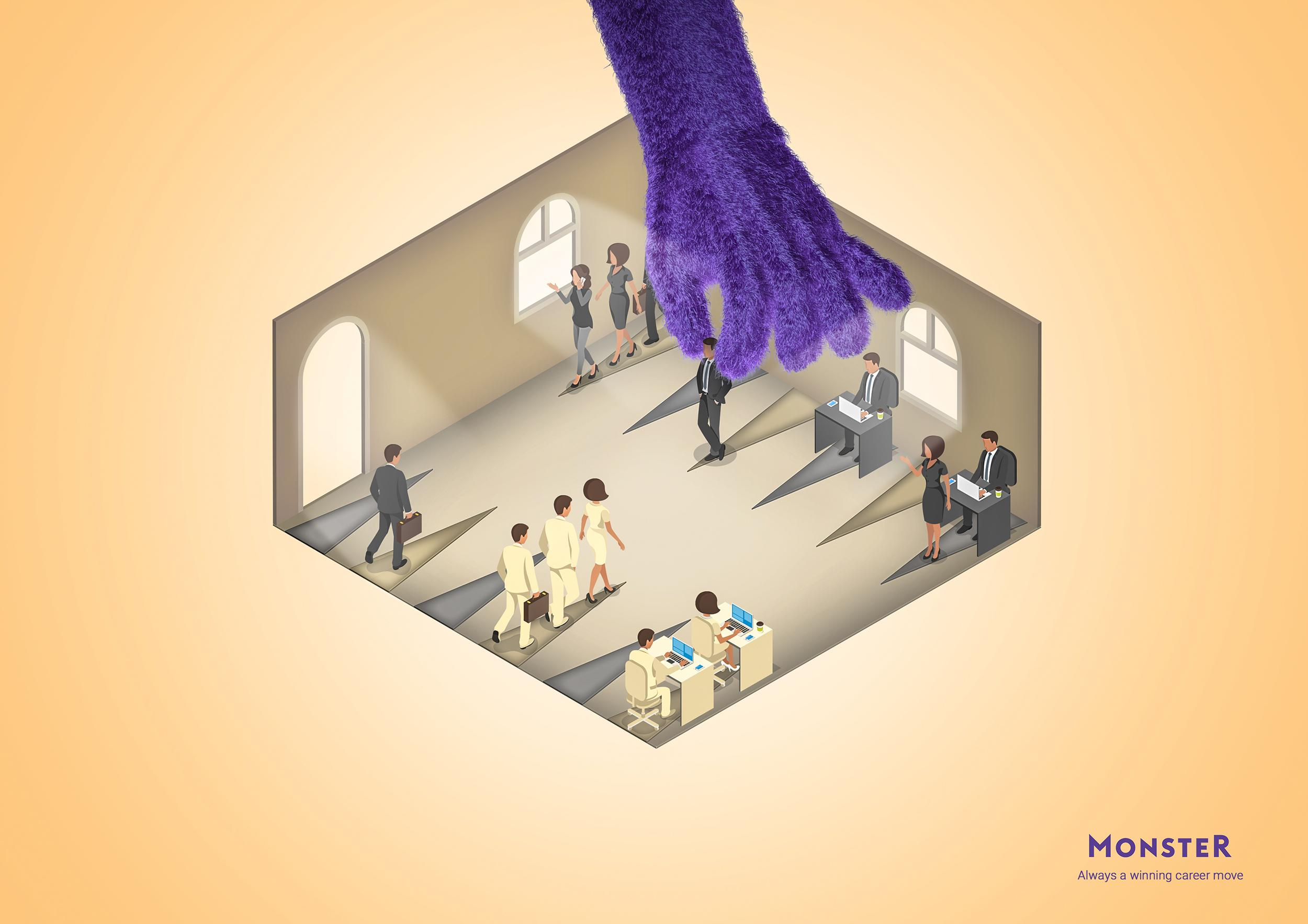 Monster Print Ad - Career Moves, 3