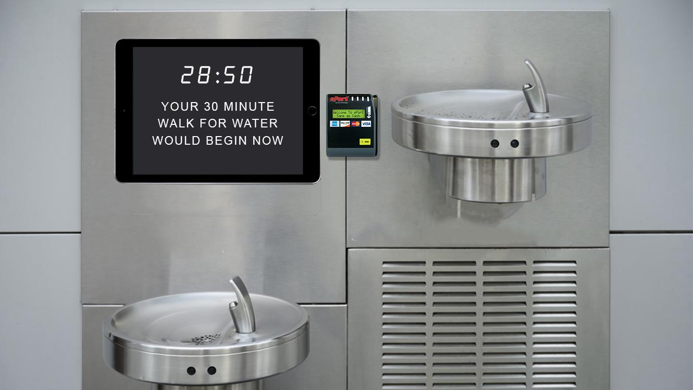 WaterAid Outdoor Ad - 30 Minutes a Day - Water Fountain