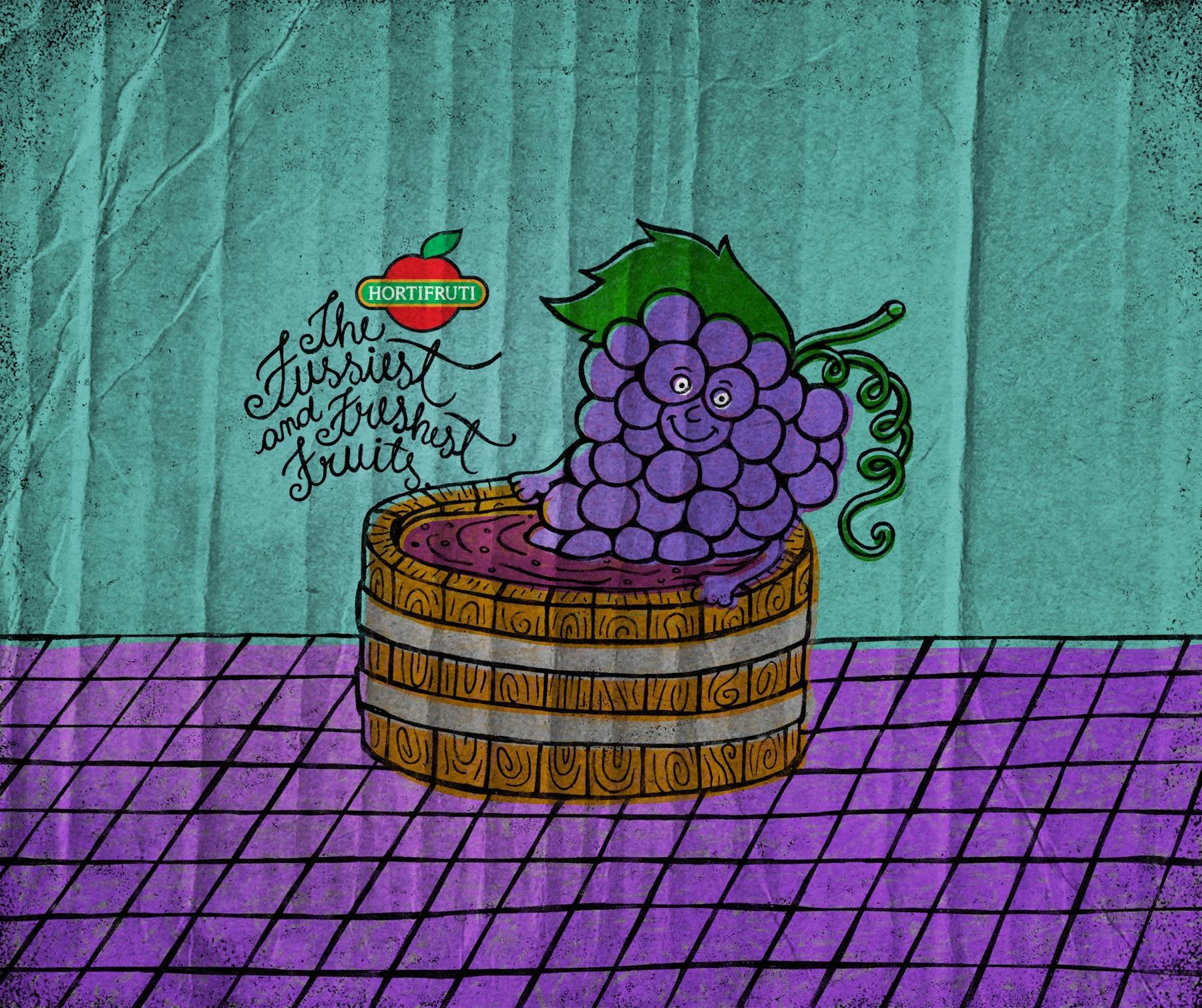 Hortifruti Print Ad -  Grape