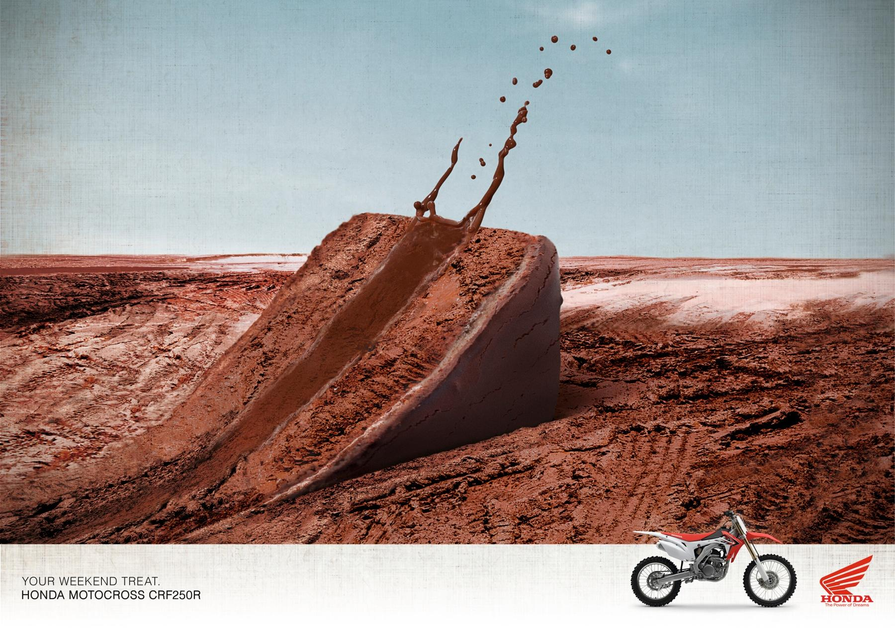 Honda Print Ad -  The Treat