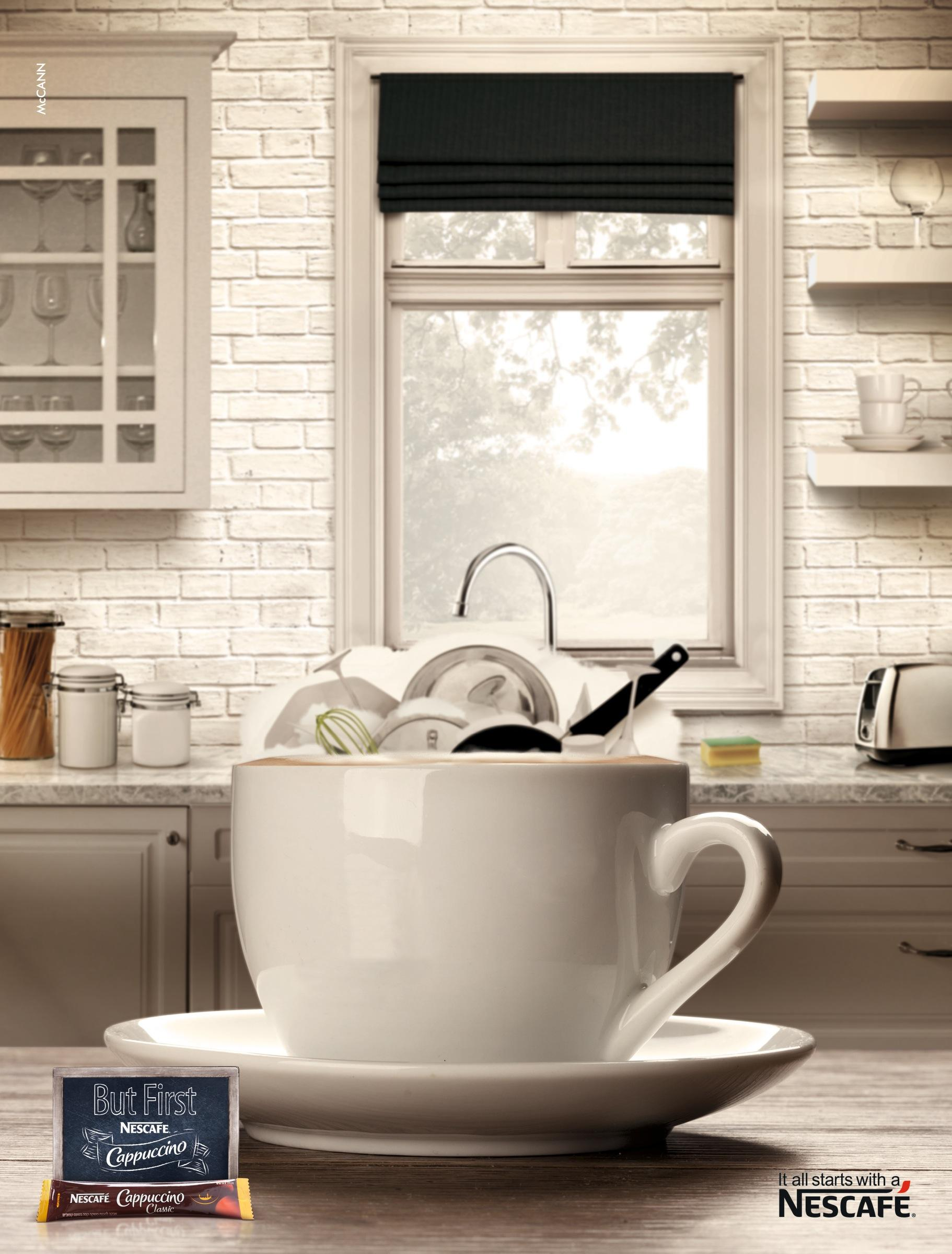 Nescafe Print Ad -  It all starts with a Nescafe