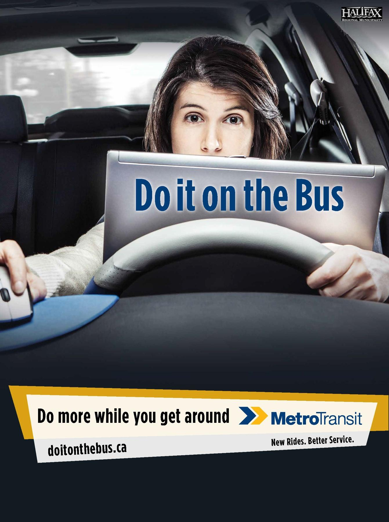 Halifax Regional Municipality Outdoor Ad -  Do It On The Bus, Laptop