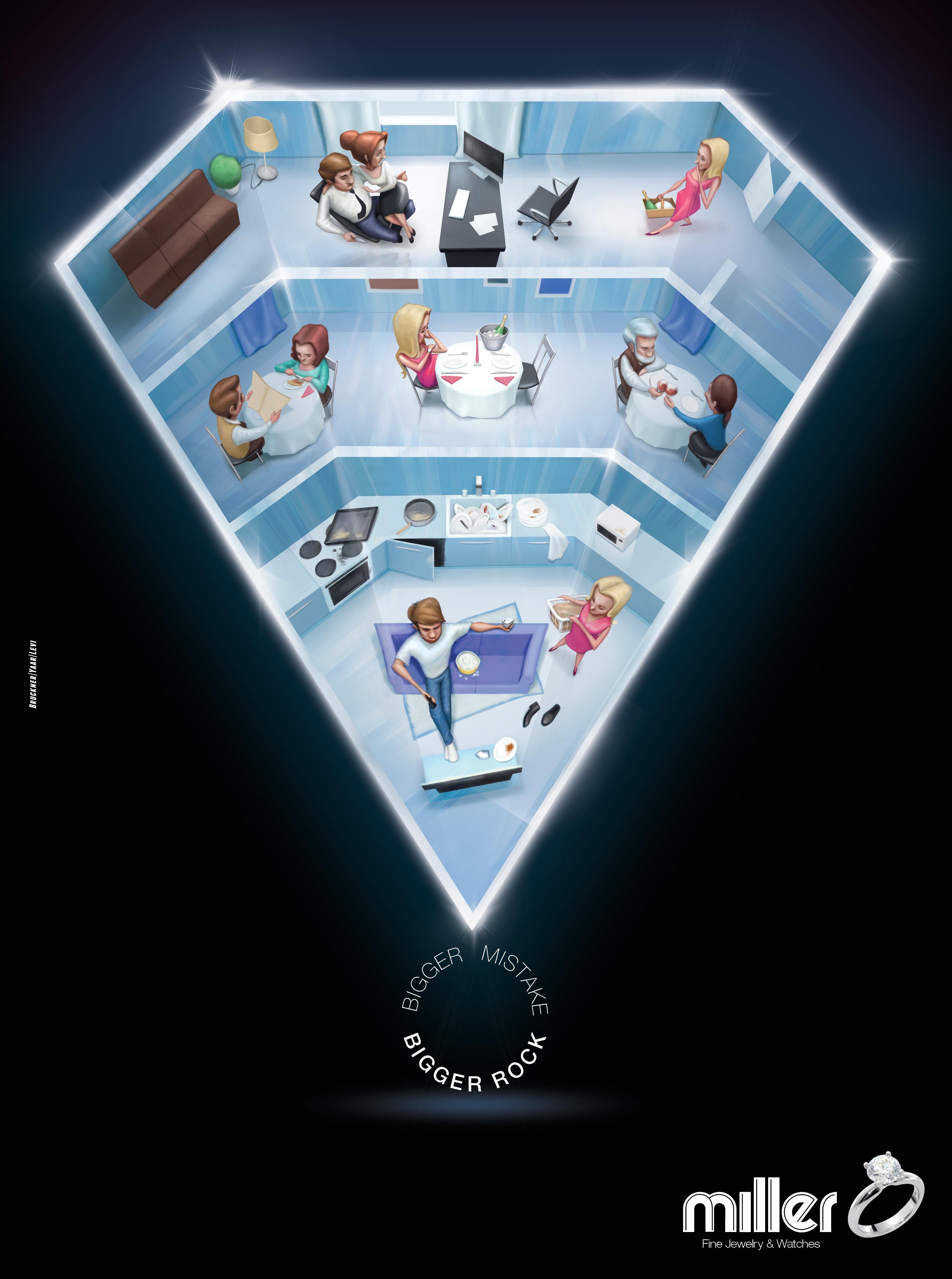 Miller Print Ad - The diamond