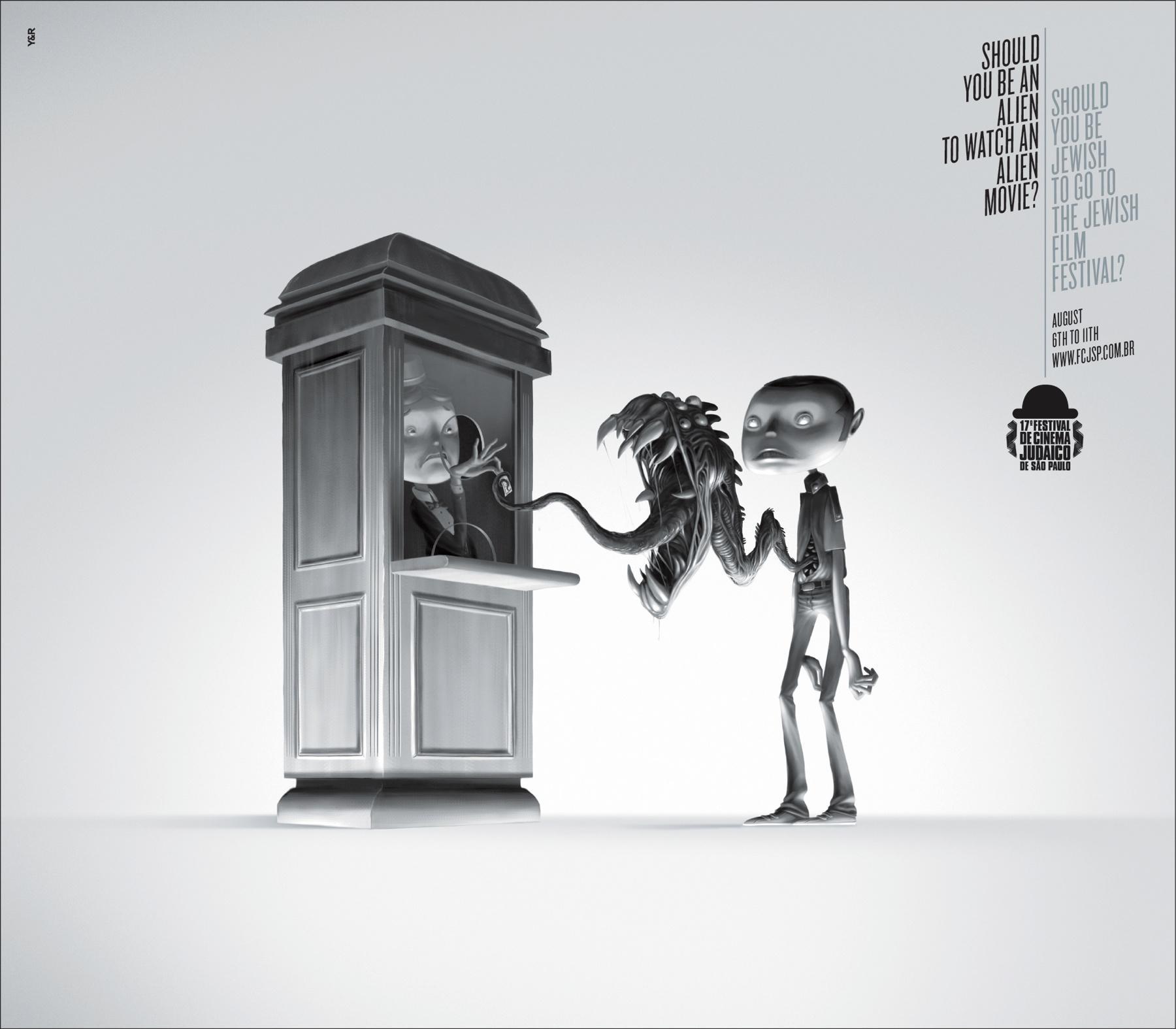 Jewish Film Festival Print Ad -  Alien