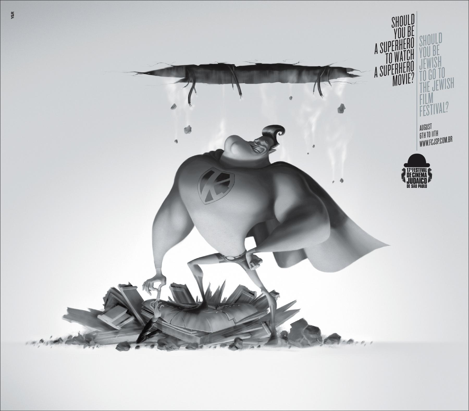 Jewish Film Festival Print Ad -  Superhero
