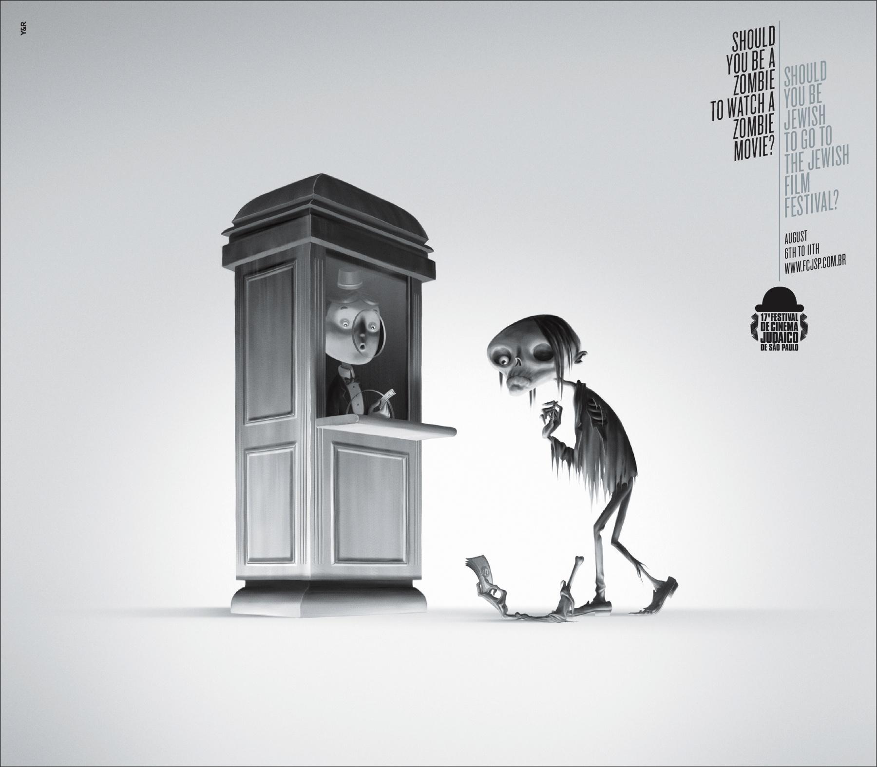 Jewish Film Festival Print Ad -  Zombie