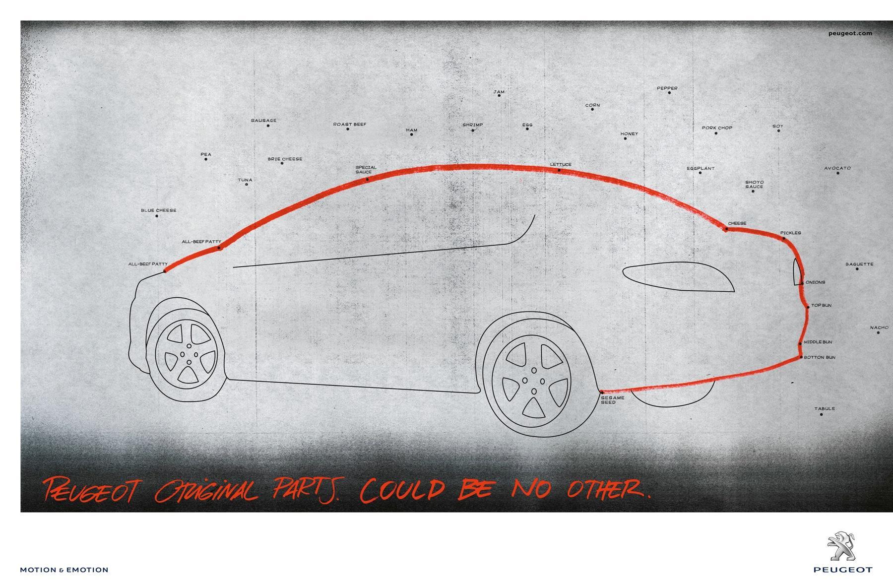 Peugeot Print Ad -  Big Mac