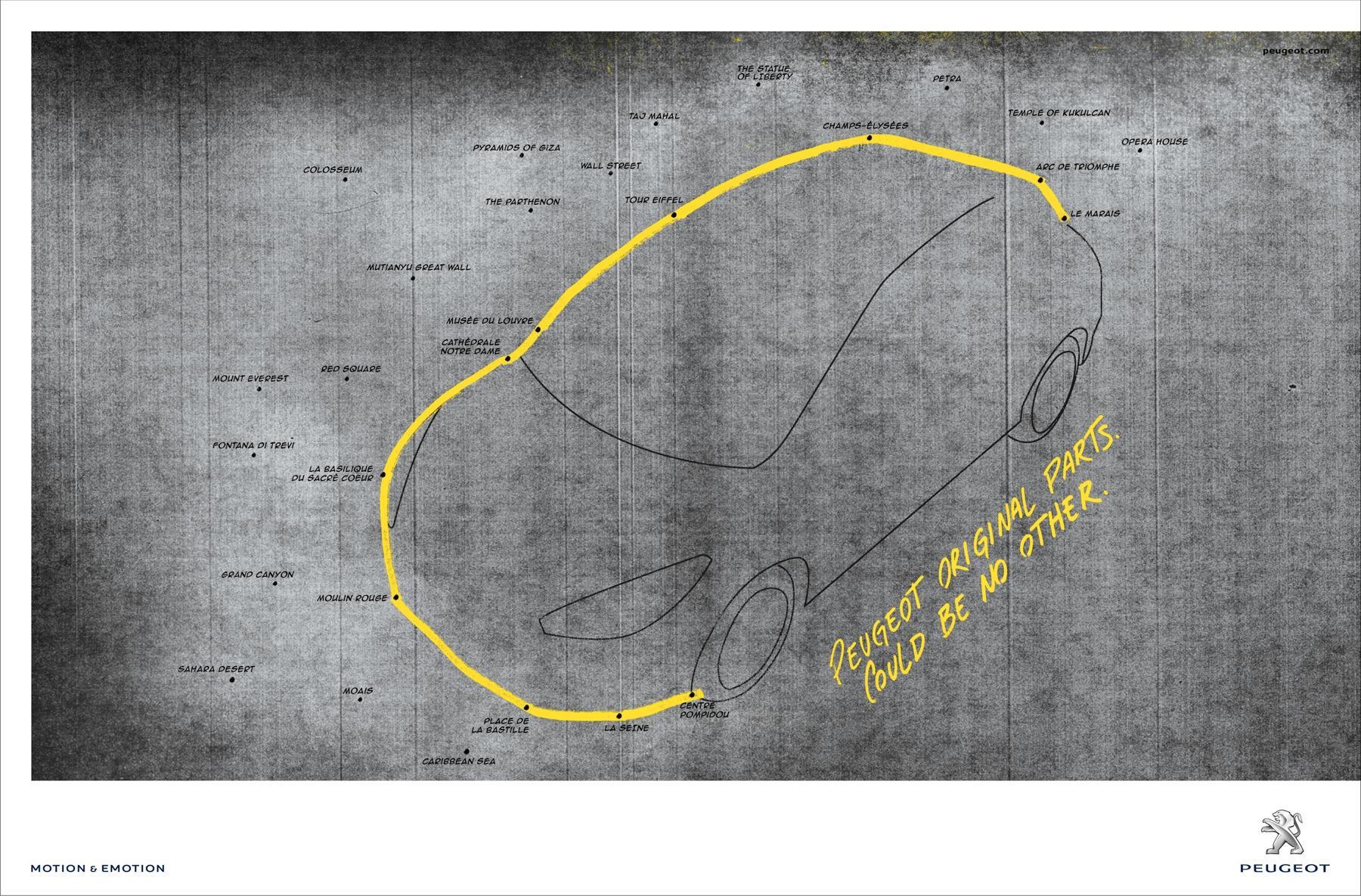 Peugeot Print Ad -  Paris