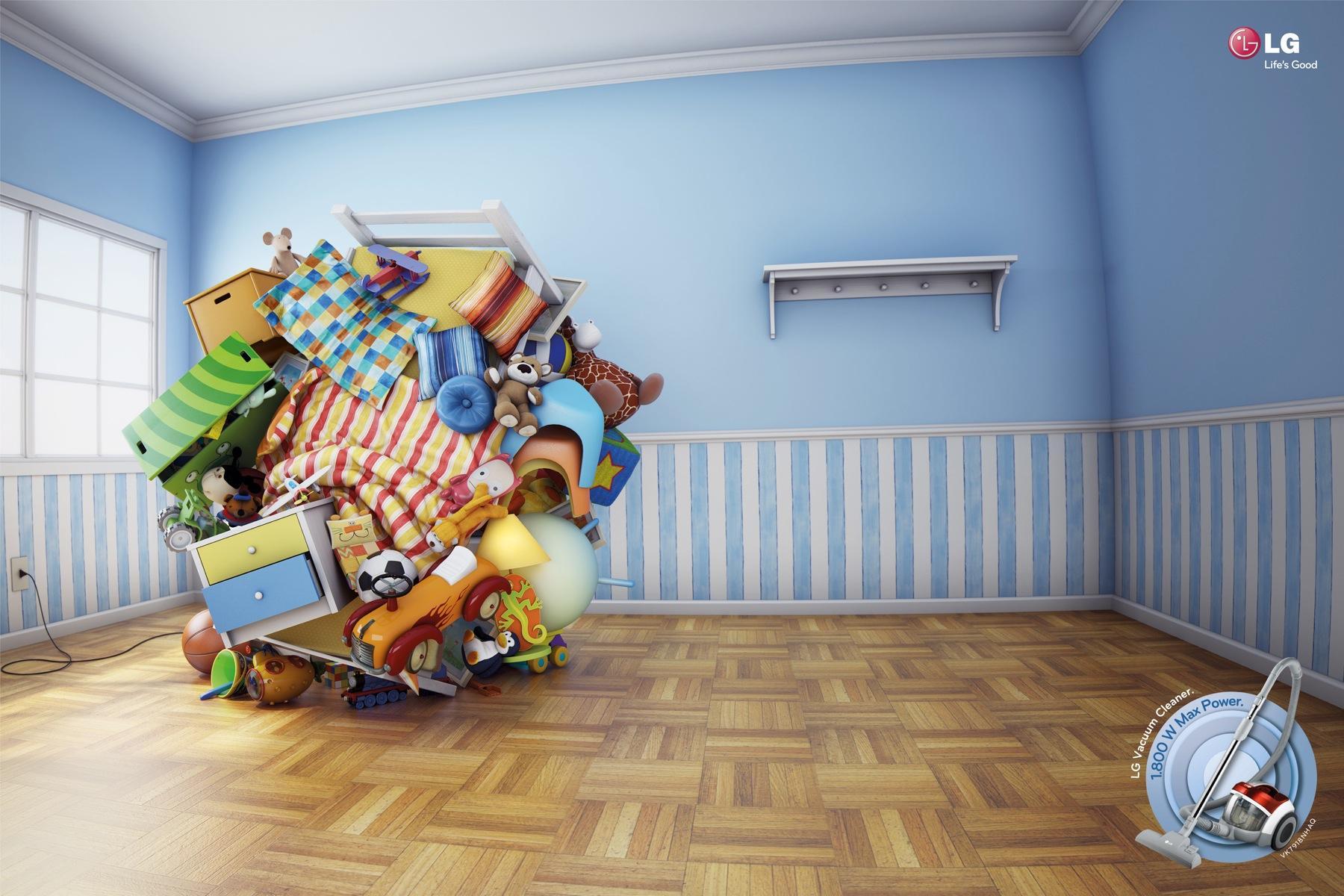 LG Print Ad -  Bedroom