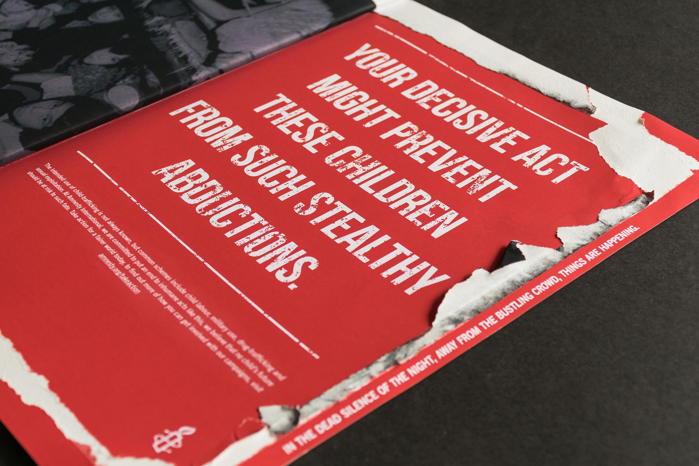 Amnesty International Print Ad - Anti-Child Trafficking
