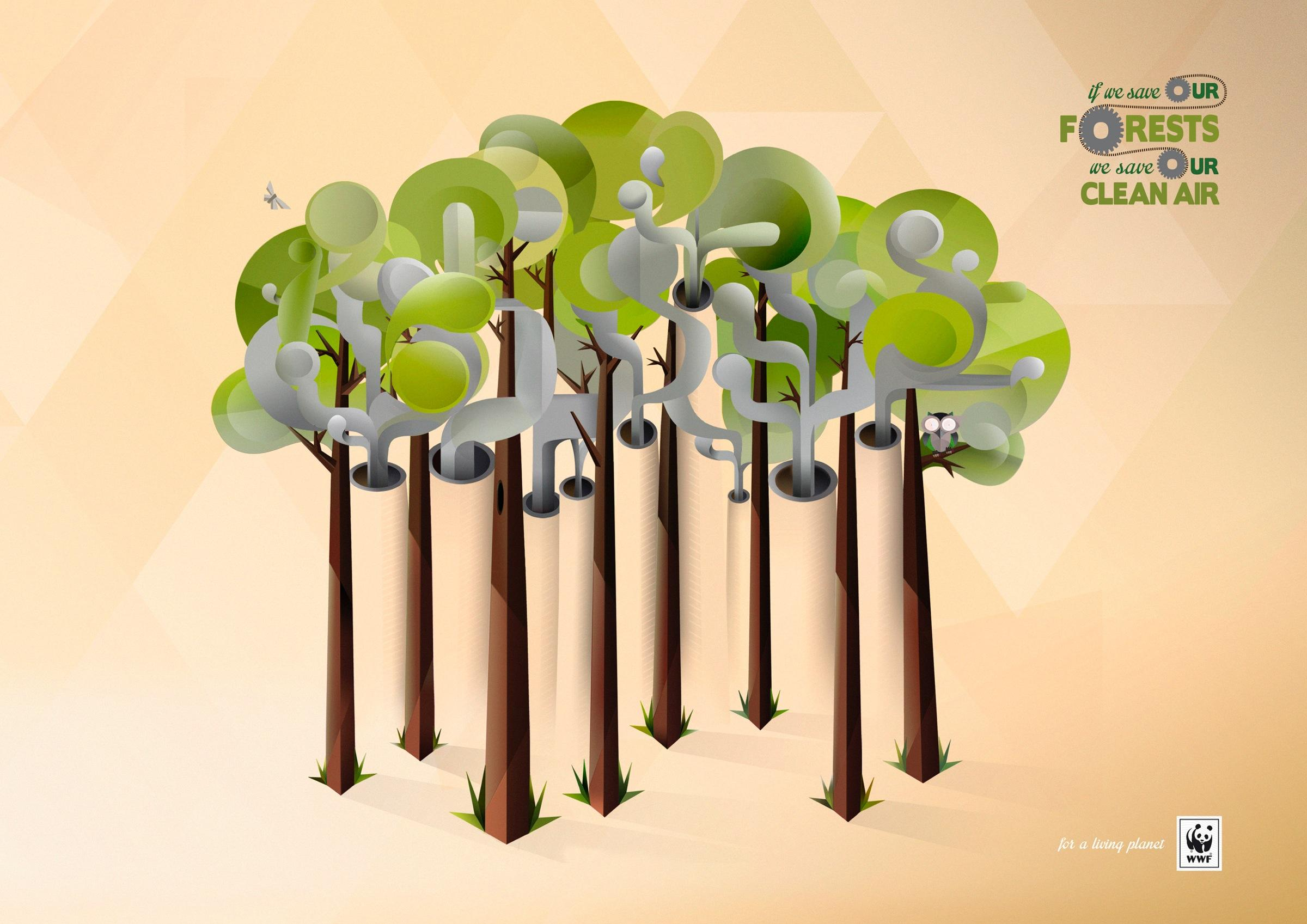 WWF Outdoor Ad -  Forest