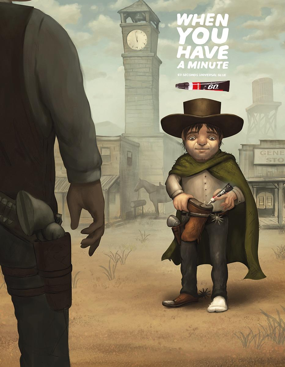 Loctite Print Ad - High Noon