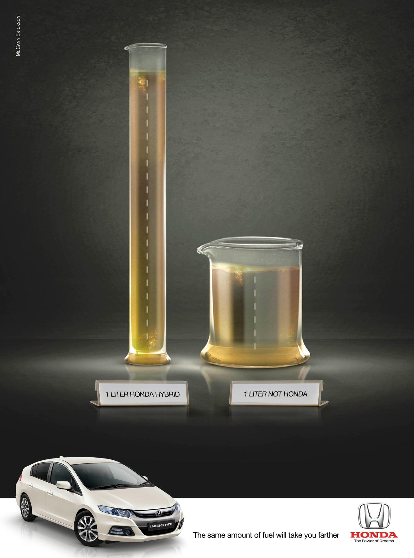 Honda Print Ad -  The Same Amount of Fuel