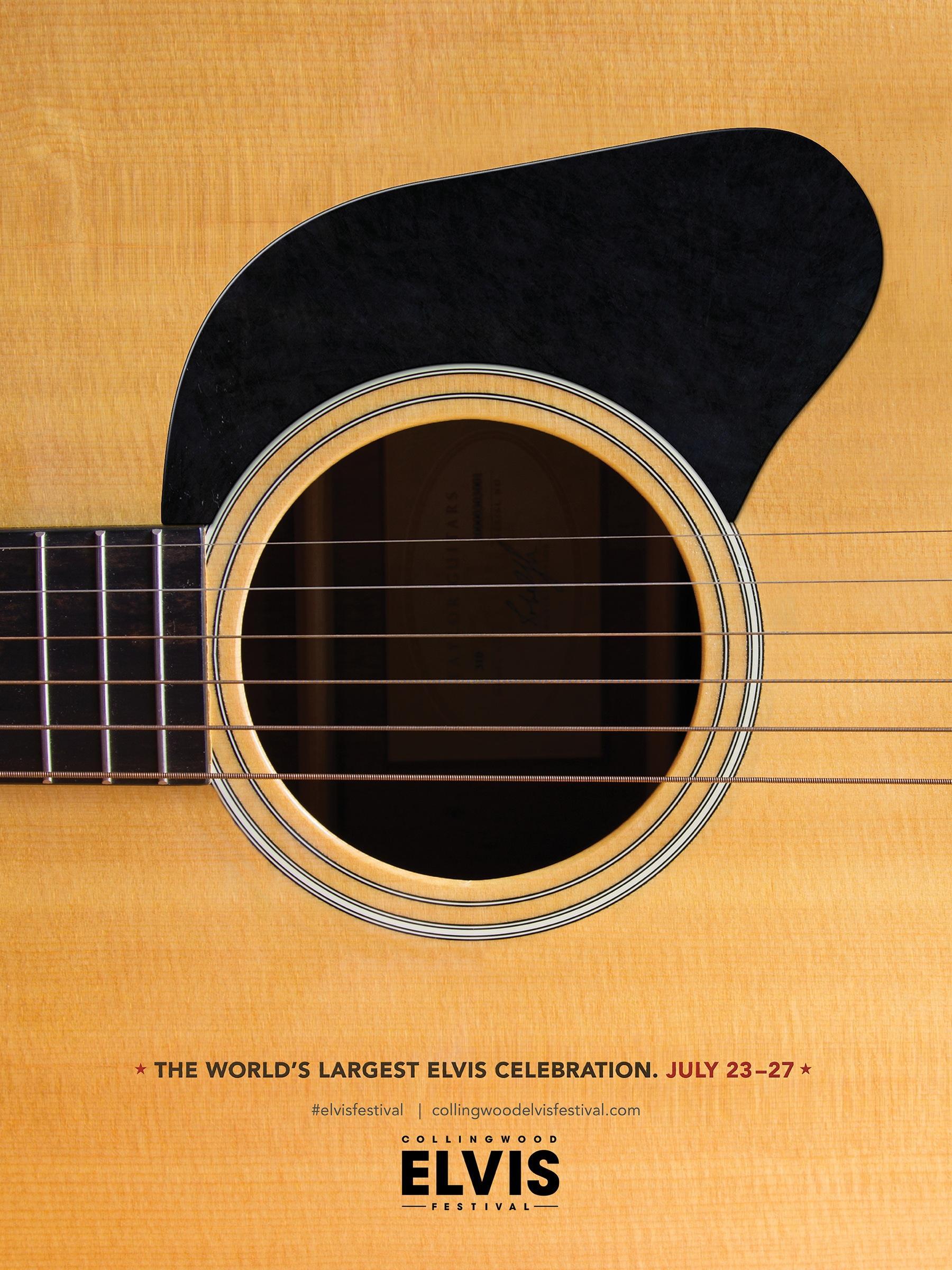 Collingwood Elvis Festival Print Ad -  Guitar