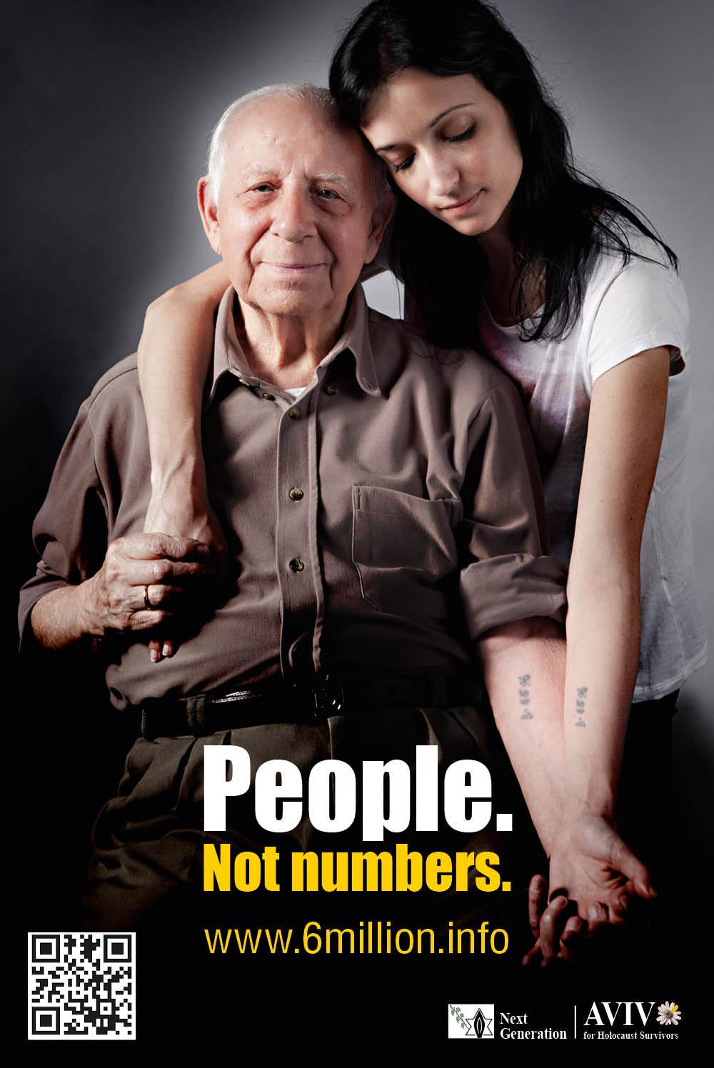 Aviv for Holocaust Survivors & Next Generation Print Ad -  People. Not numbers. 2